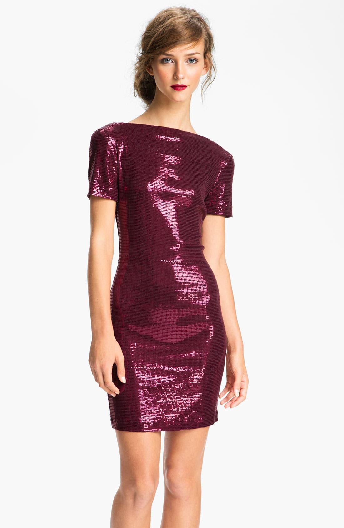 Main Image - Ali Ro Low Back Sequin Sheath Dress