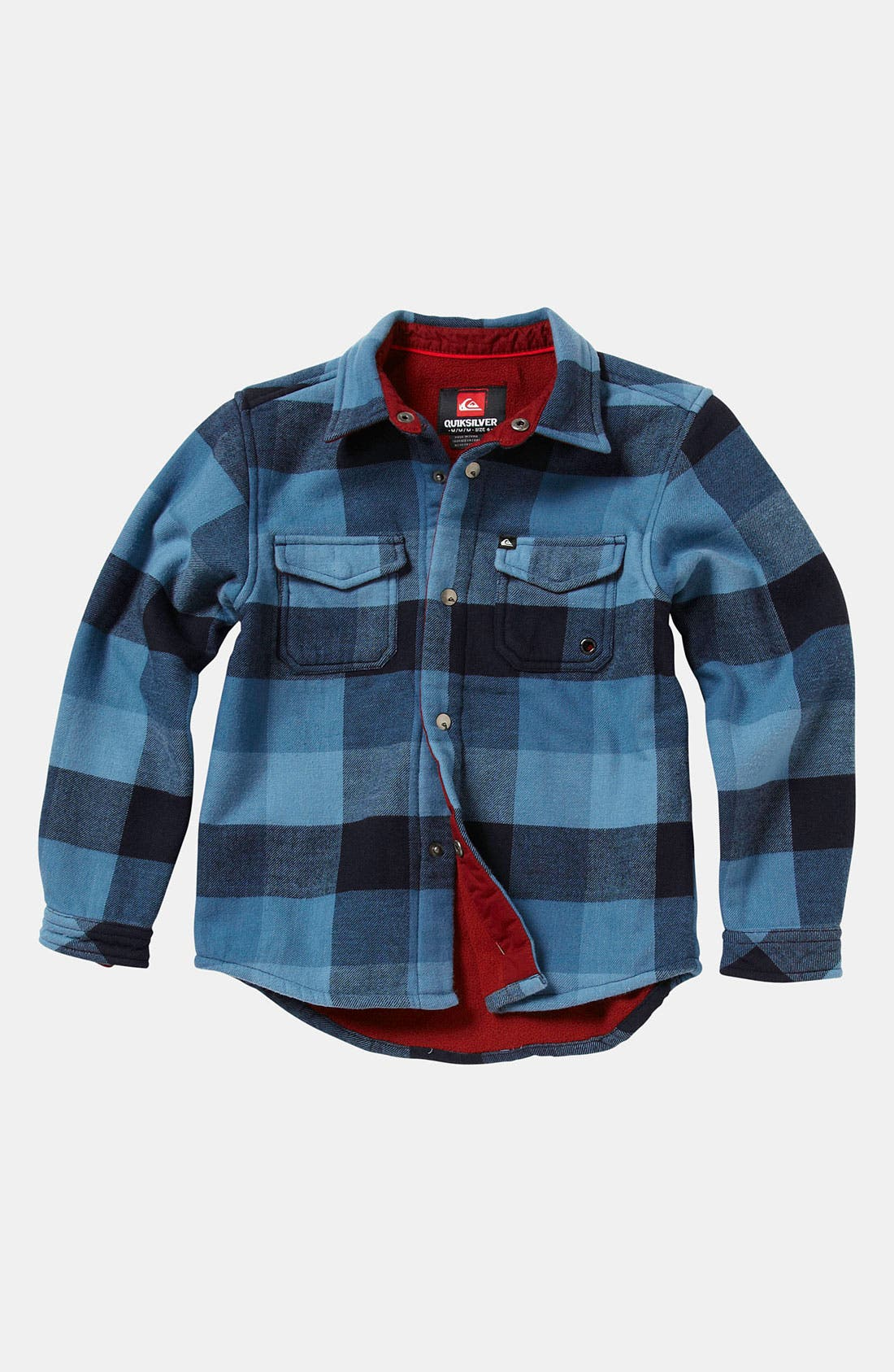 Main Image - Quiksilver 'Coffee Crusher' Flannel Shirt (Toddler)