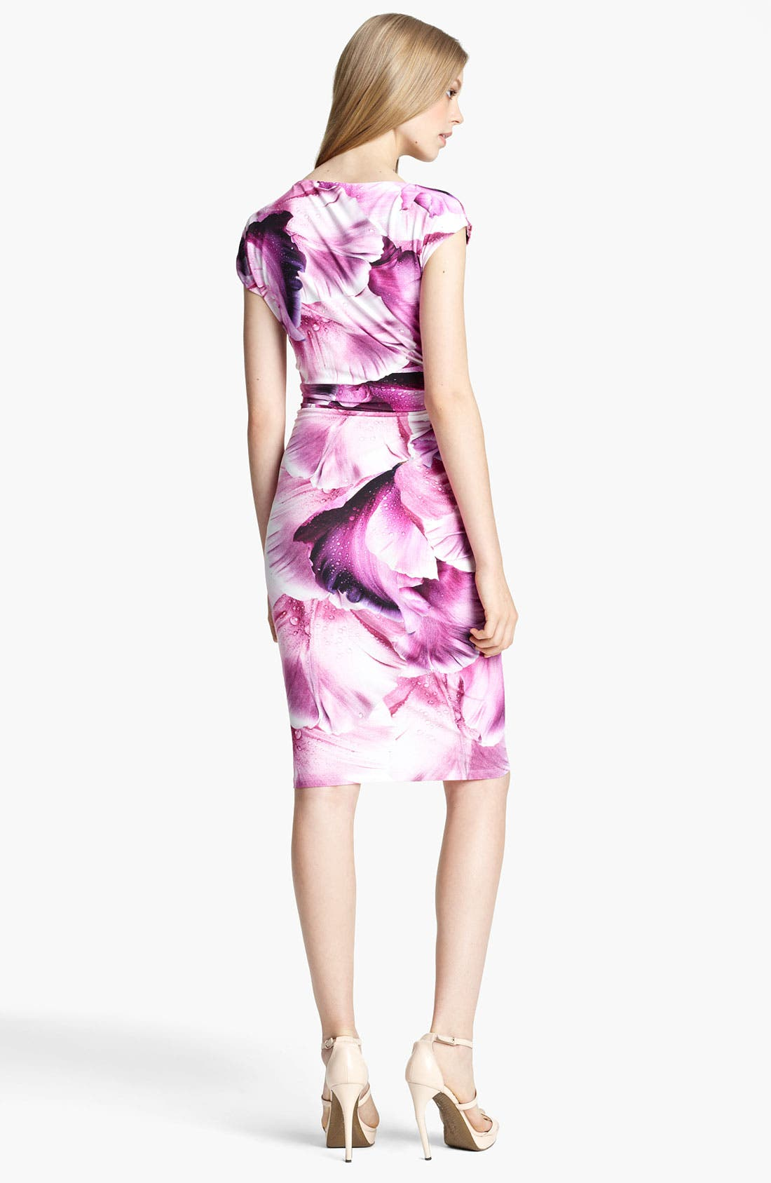 Alternate Image 2  - Roberto Cavalli Flower Print Ruched Jersey Dress
