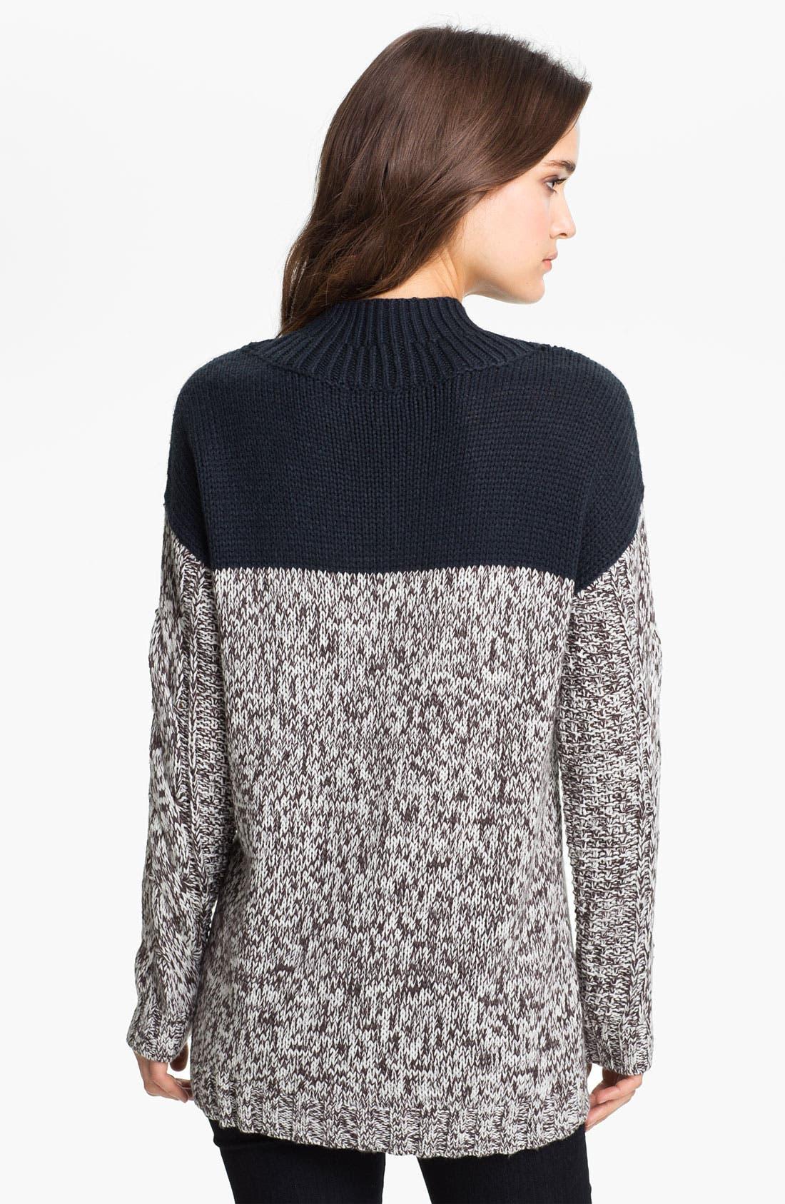 Alternate Image 2  - Trouvé Colorblock Cable Sweater