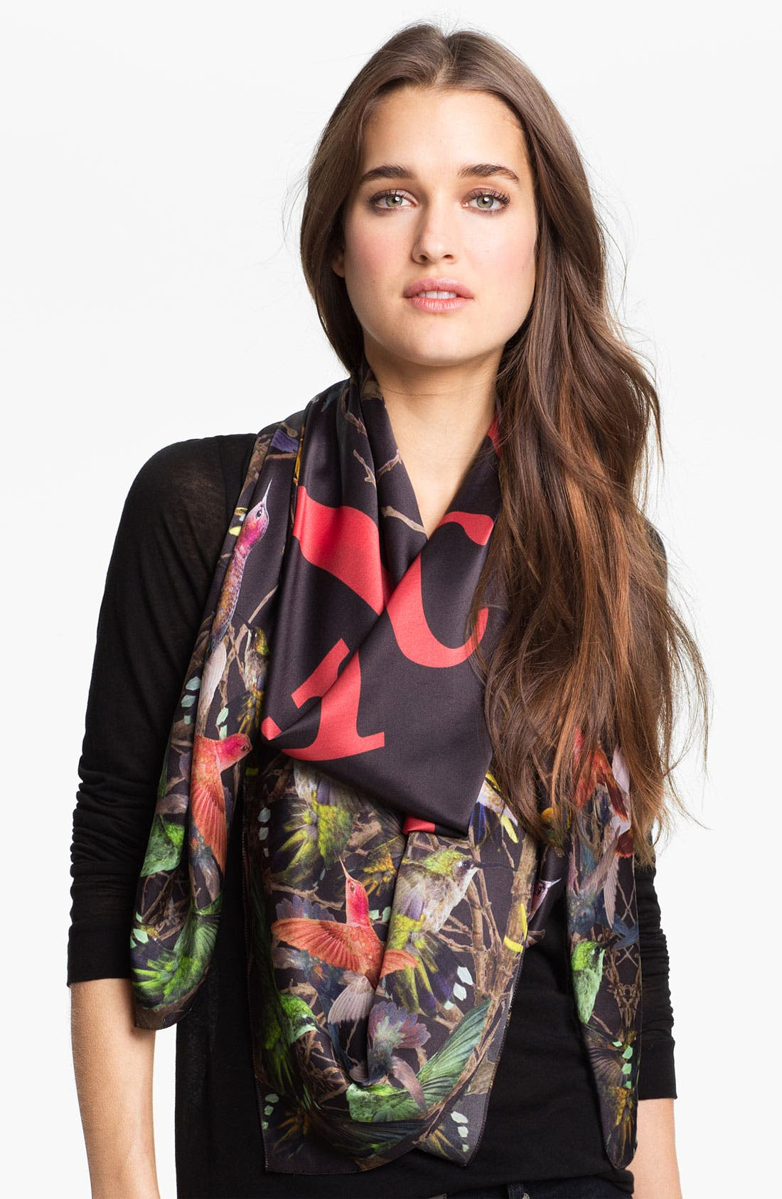 Alternate Image 1 Selected - McQ by Alexander McQueen 'Hummingbird' Silk Scarf