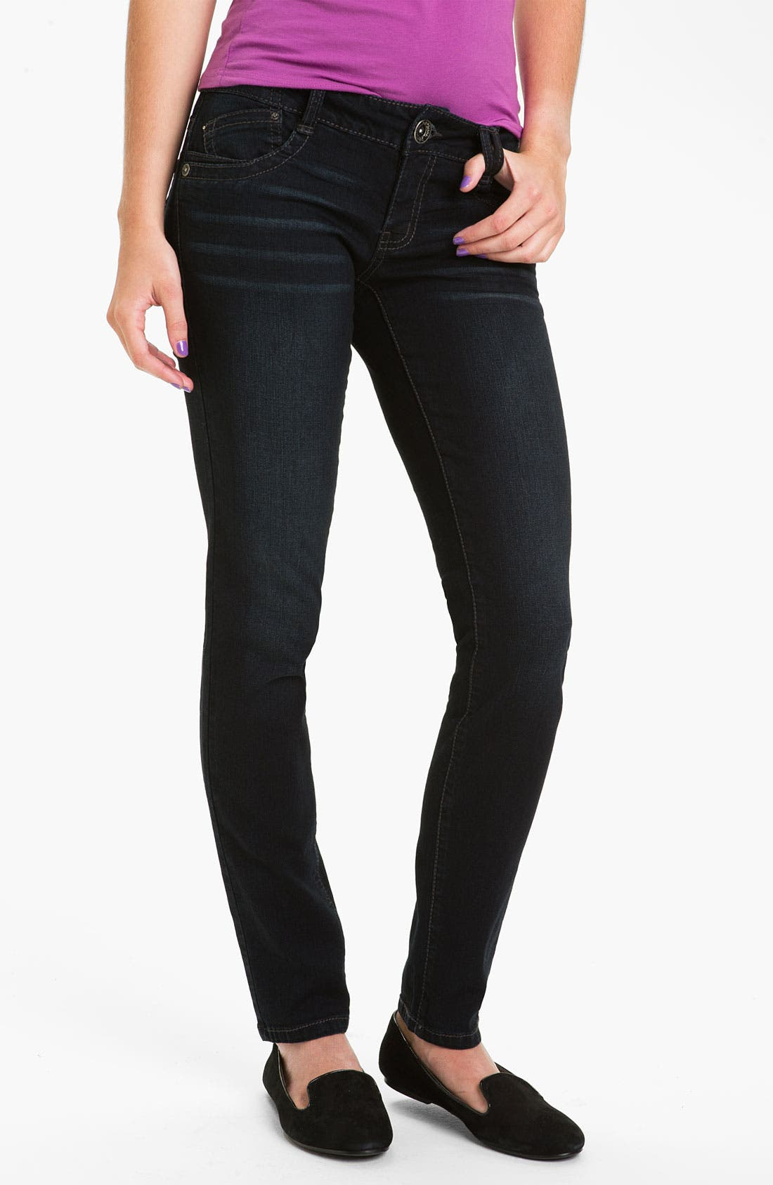 Alternate Image 2  - Jolt 'J Pocket' Skinny Jeans (Juniors)