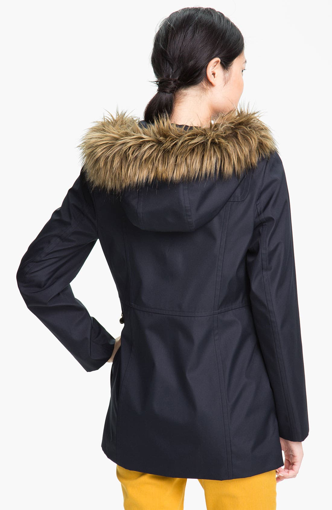Alternate Image 2  - Calvin Klein Faux Fur Trim Hooded Jacket