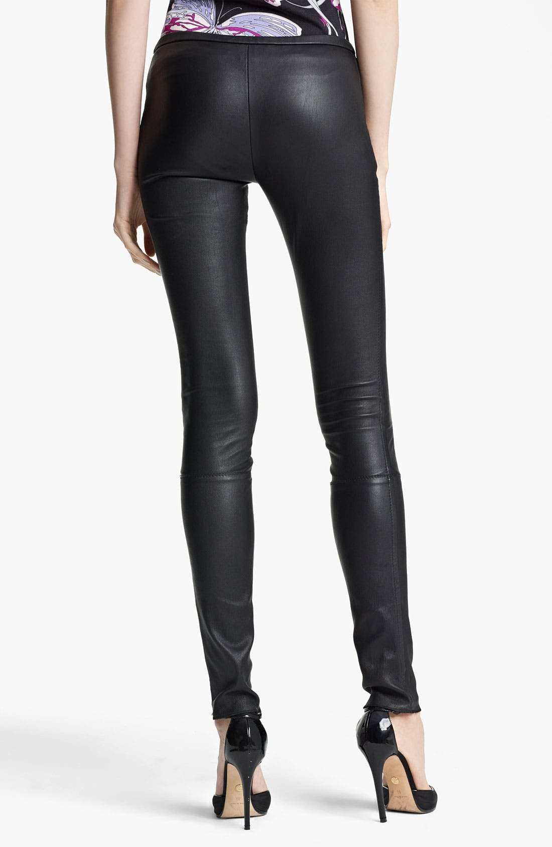 Alternate Image 2  - Emilio Pucci Lambskin Leather Leggings