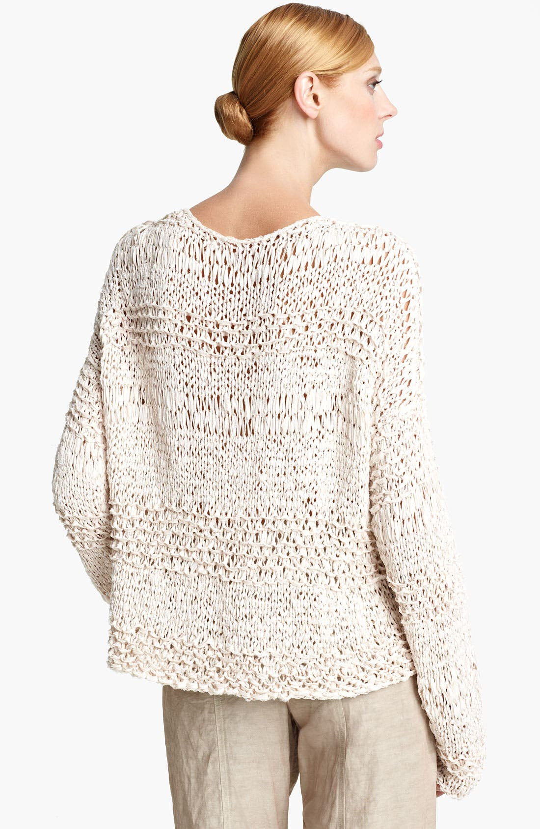 Alternate Image 2  - Donna Karan Collection Ribbon Knit Sweater
