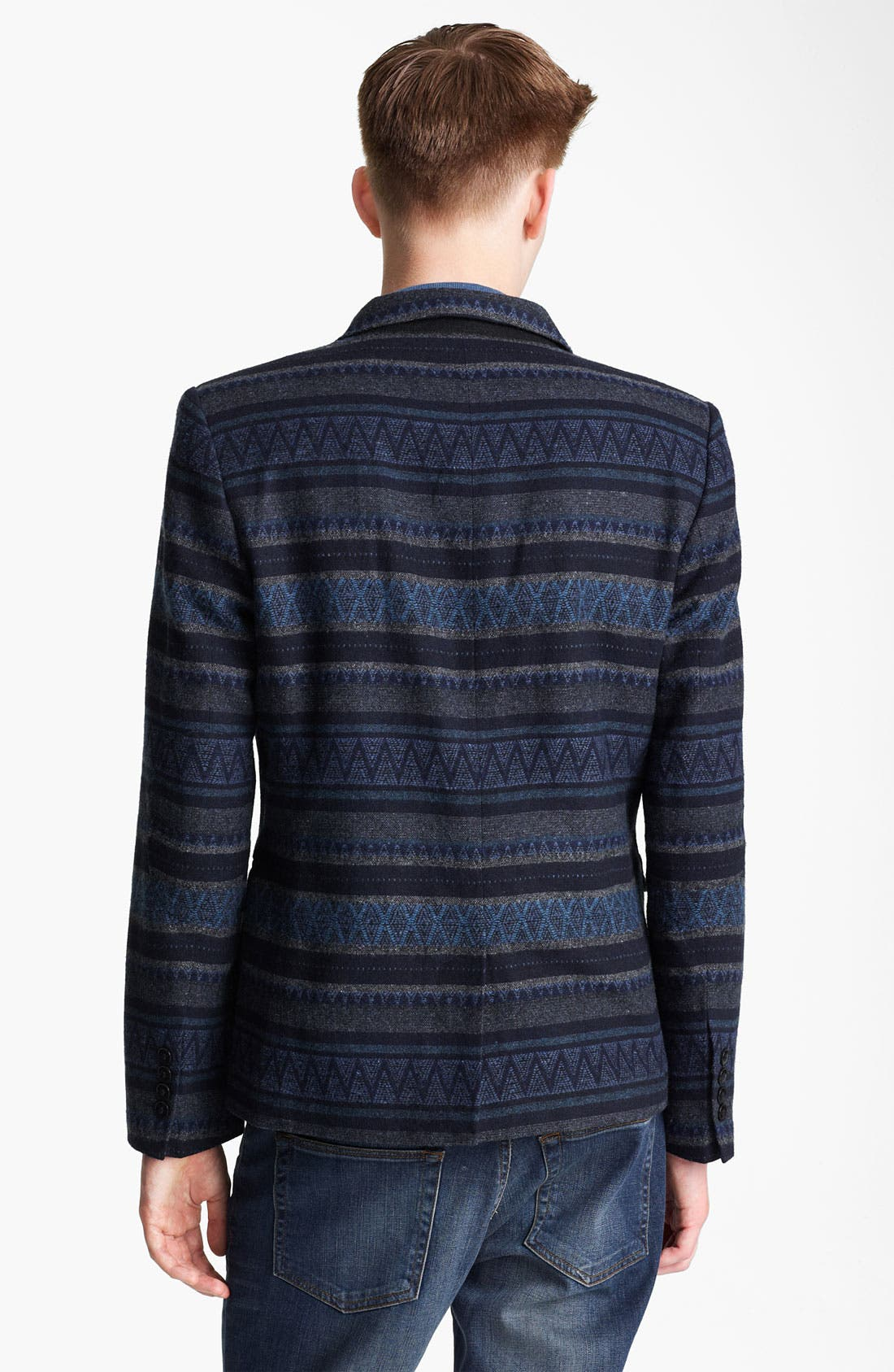 Alternate Image 2  - Topman Stripe Pattern Blazer