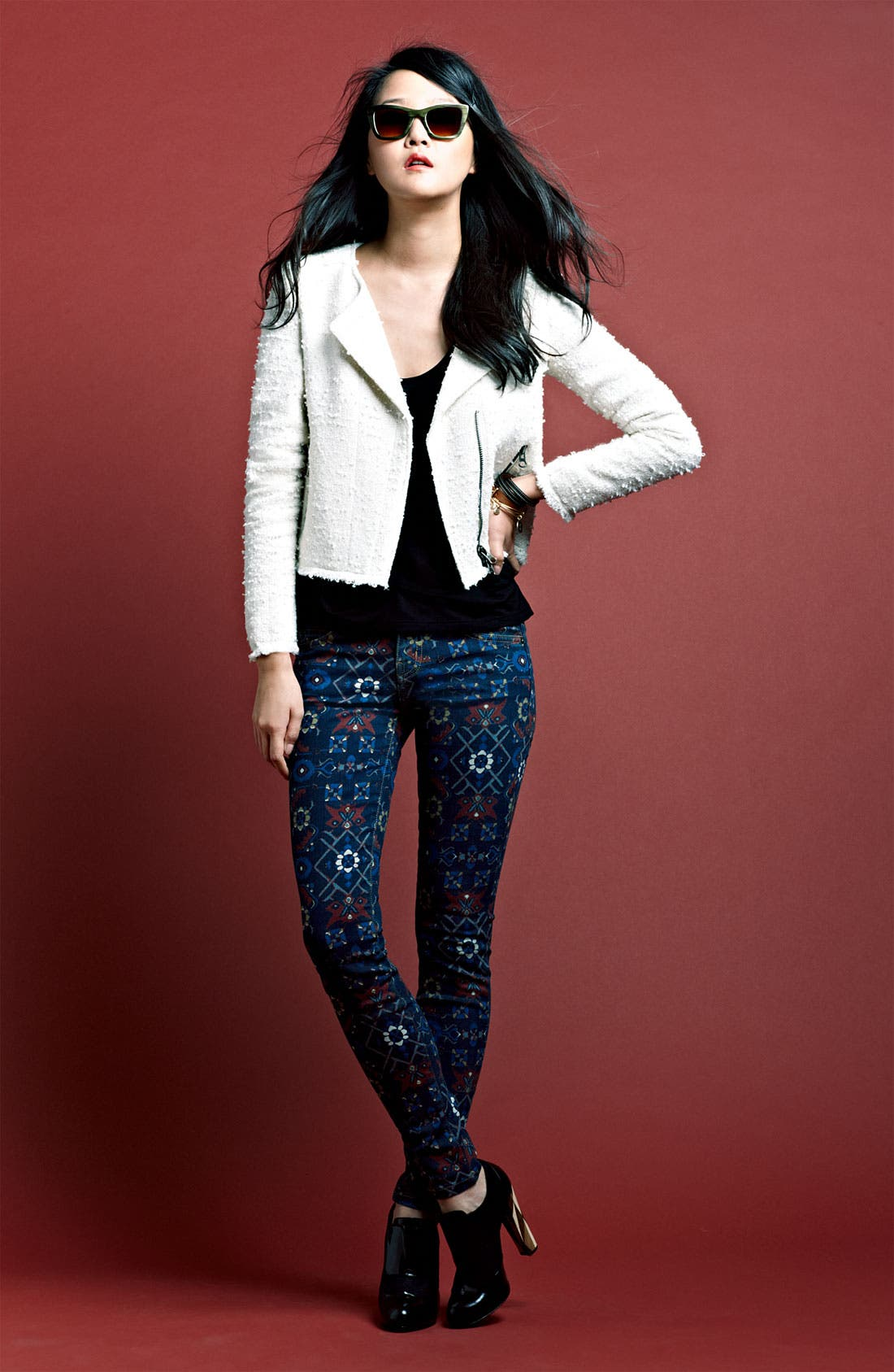 Main Image - Truth & Pride Jacket, Soft Joie Top & Current/Elliott Jeans