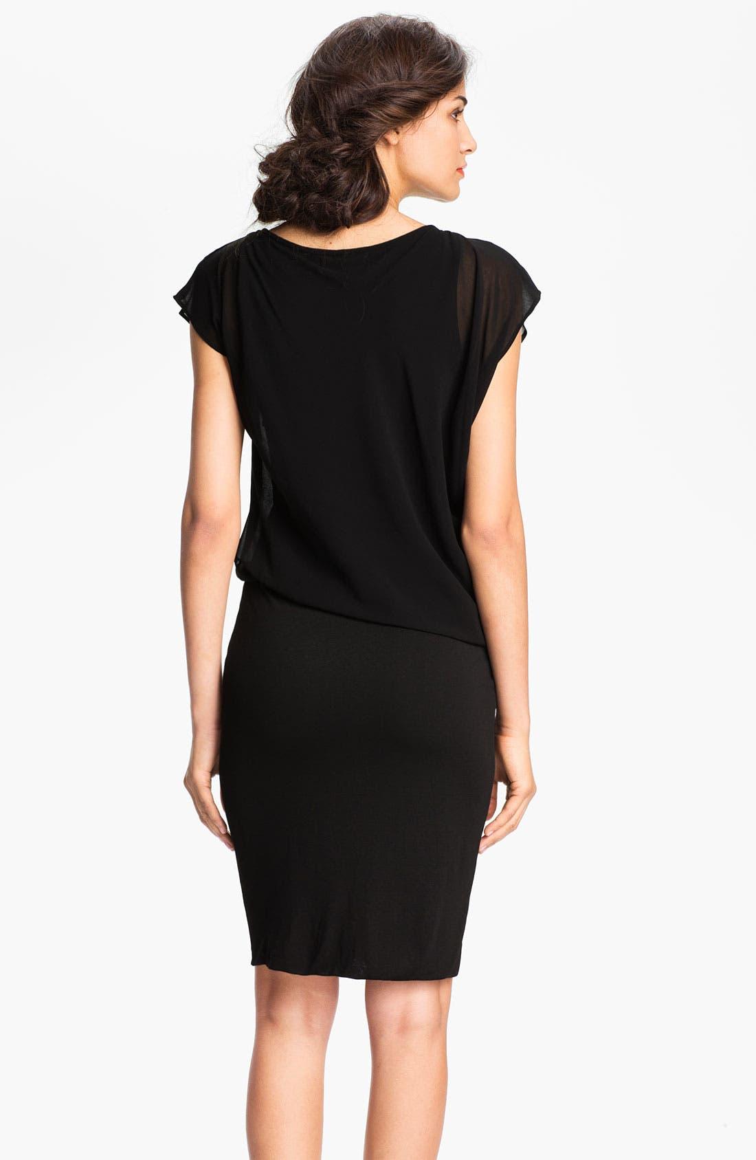 Alternate Image 2  - Velvet by Graham & Spencer Blouson Bodice Chiffon & Jersey Dress