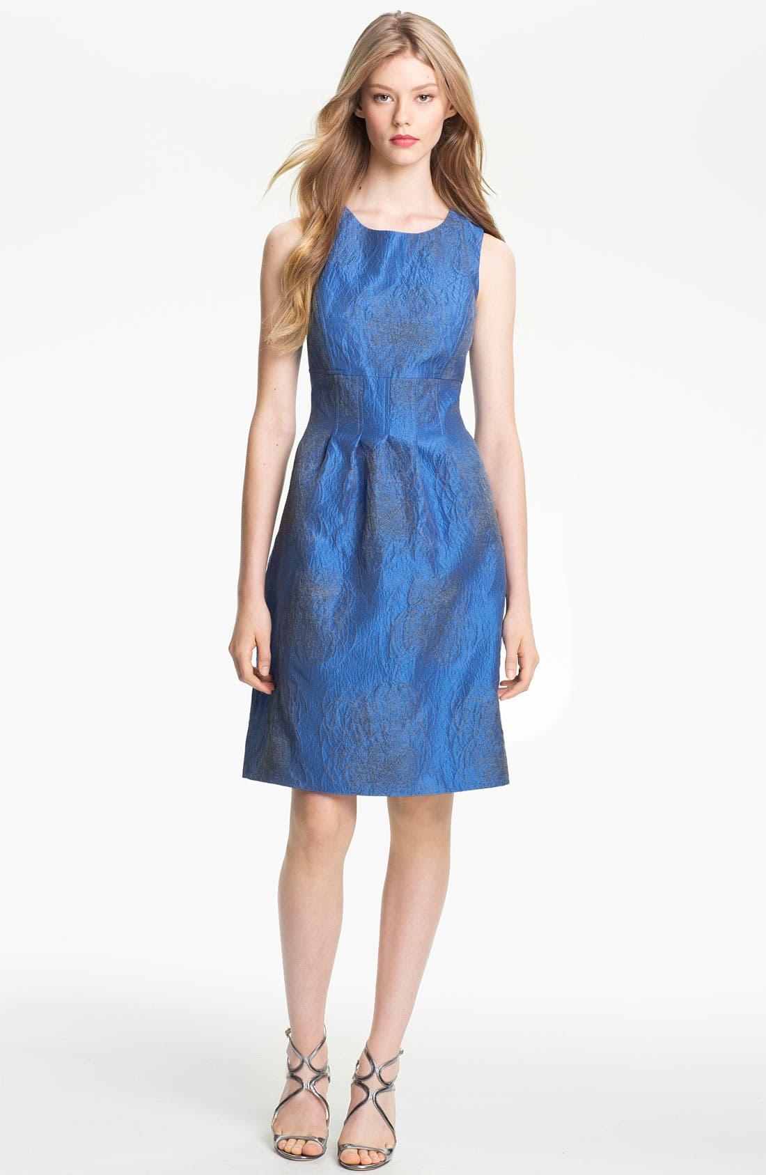 Alternate Image 1 Selected - Lela Rose Scribble Jacquard Sheath Dress