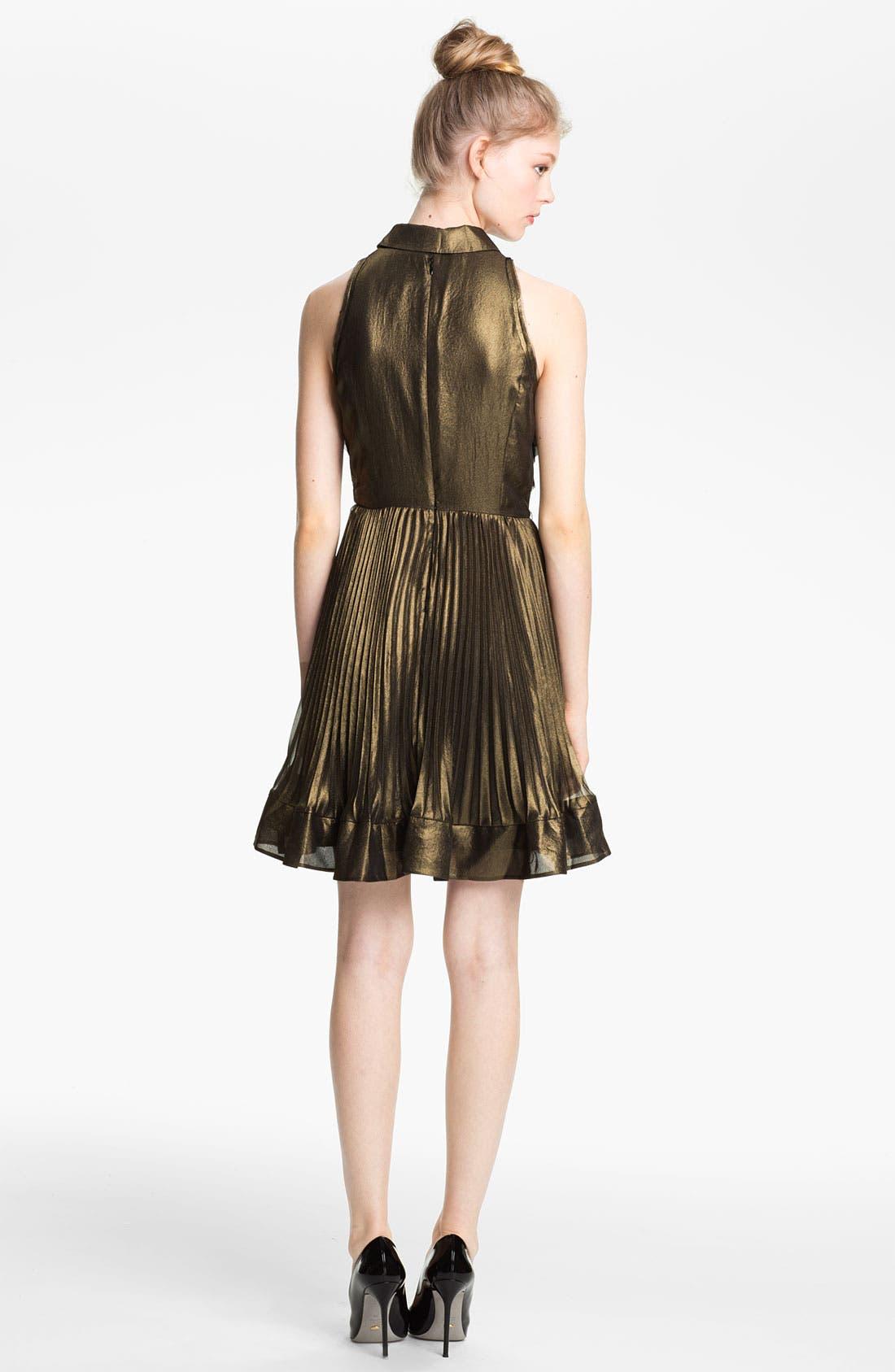 Alternate Image 2  - Mcginn 'Nalia' Pleated Metallic Dress