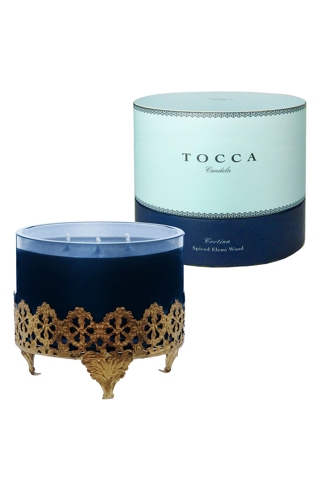 Alternate Image 2  - TOCCA 'Cortina' Antique Brass Candela