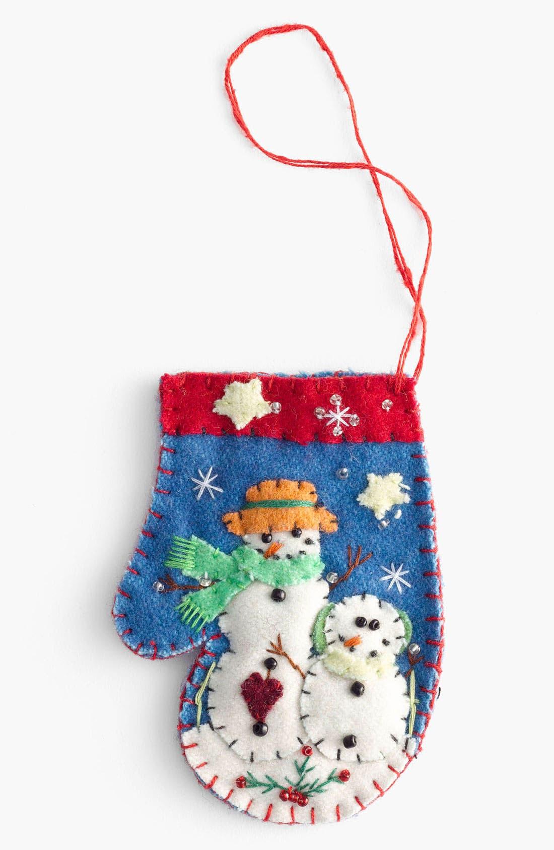 Main Image - New World Arts 'Two Snowmen' Mitten Ornament
