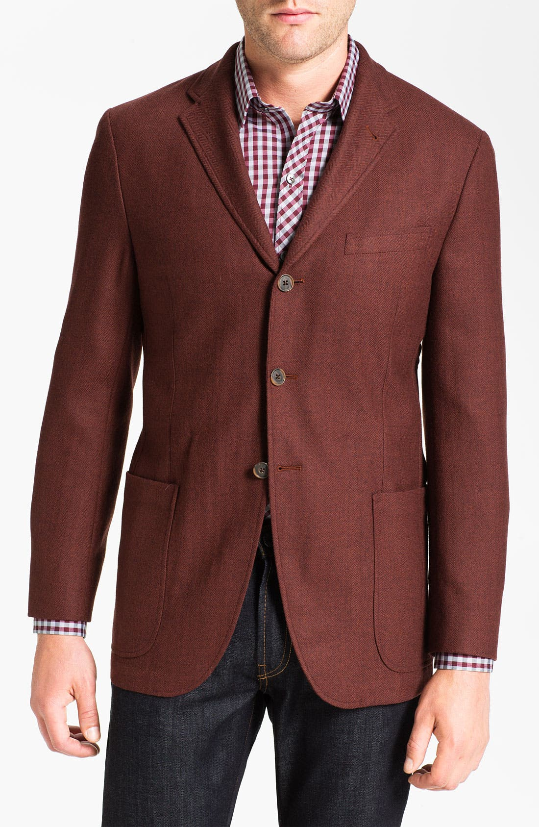 Alternate Image 1 Selected - Joseph Abboud Three Button Sportcoat