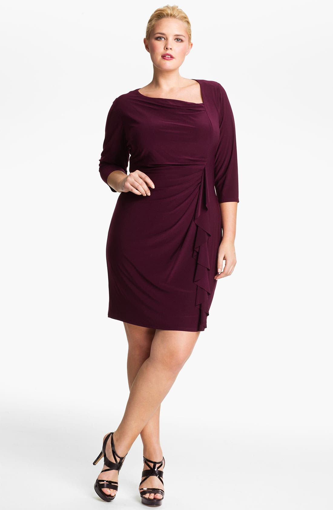 Alternate Image 1 Selected - Eliza J Asymmetrical Knit Dress (Plus)