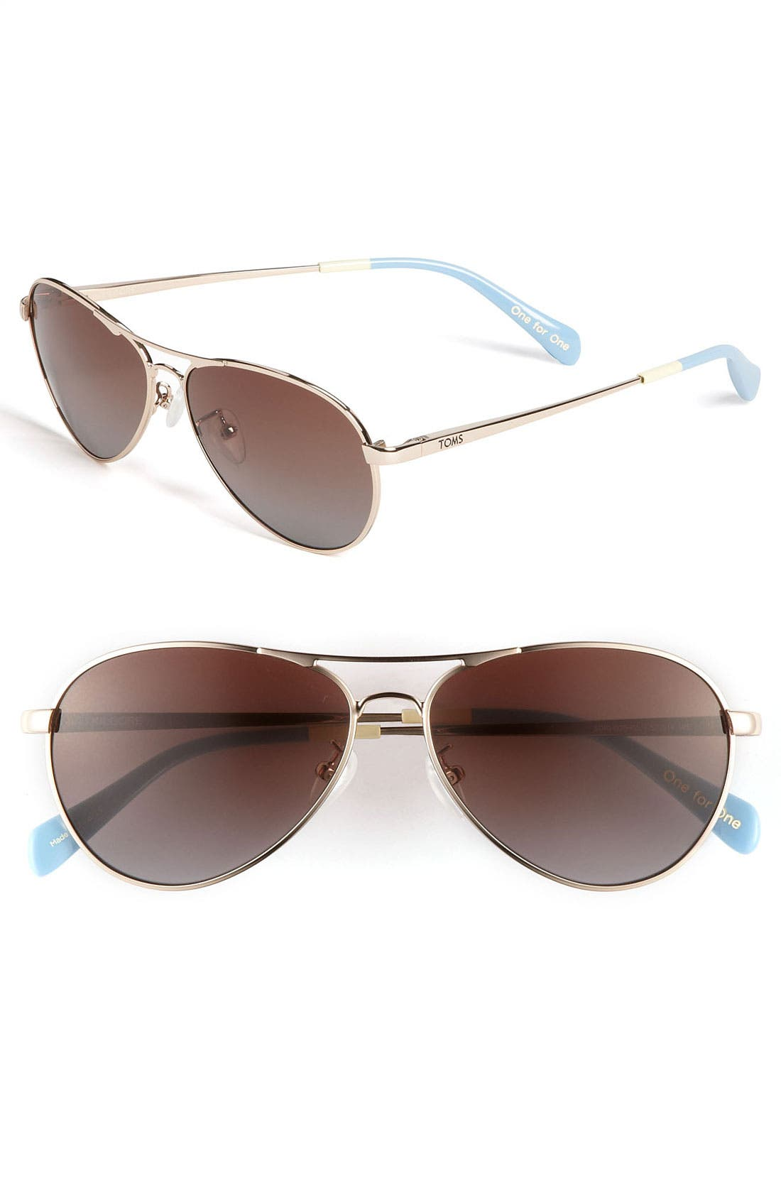 Alternate Image 1 Selected - TOMS 'Kilgore' 57mm Polarized Aviator Sunglasses