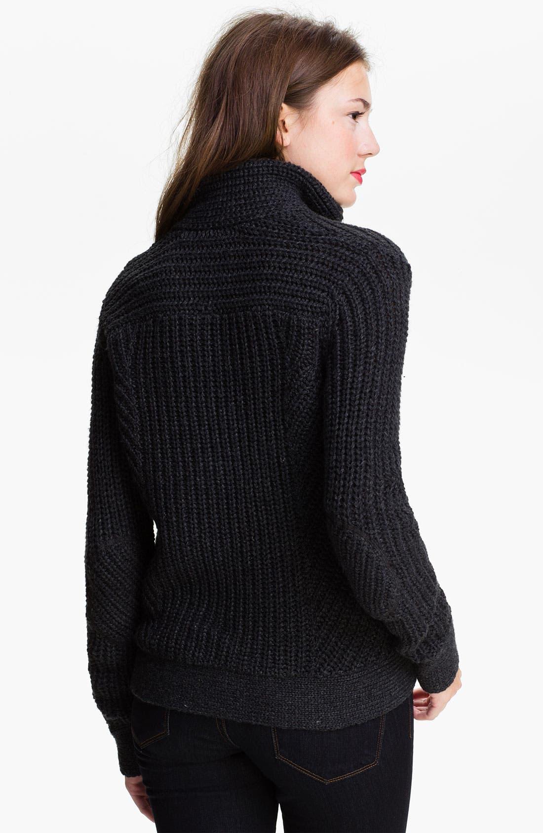 Alternate Image 2  - Caslon® Moto Sweater Jacket