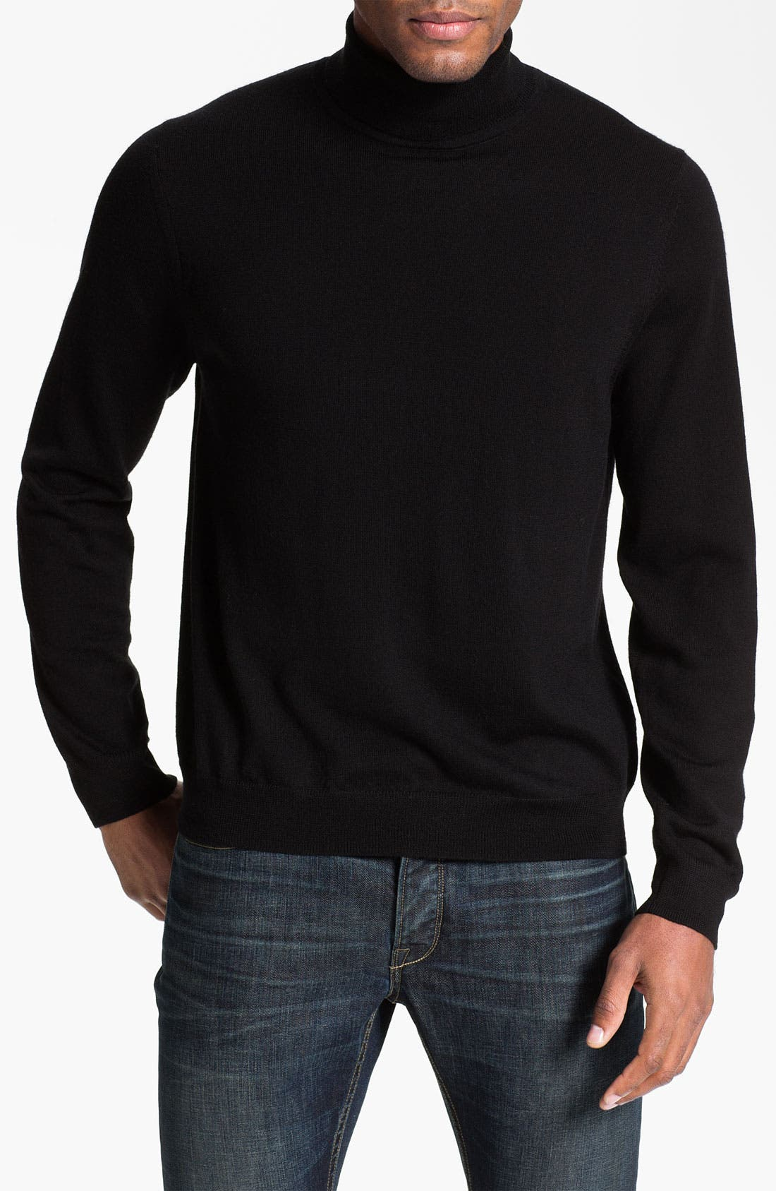 Alternate Image 1 Selected - Nordstrom Merino Wool Turtleneck