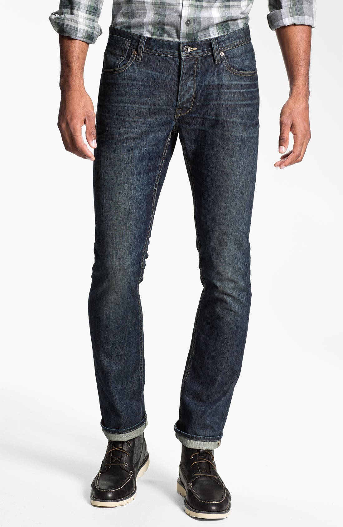 Alternate Image 1 Selected - John Varvatos Star USA 'Bowery' Slim Straight Leg Jeans (Indigo)