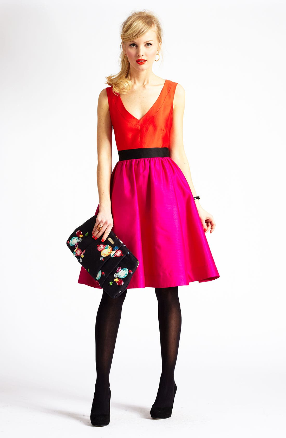 Alternate Image 4  - kate spade new york 'normandy' silk blend fit & flare dress