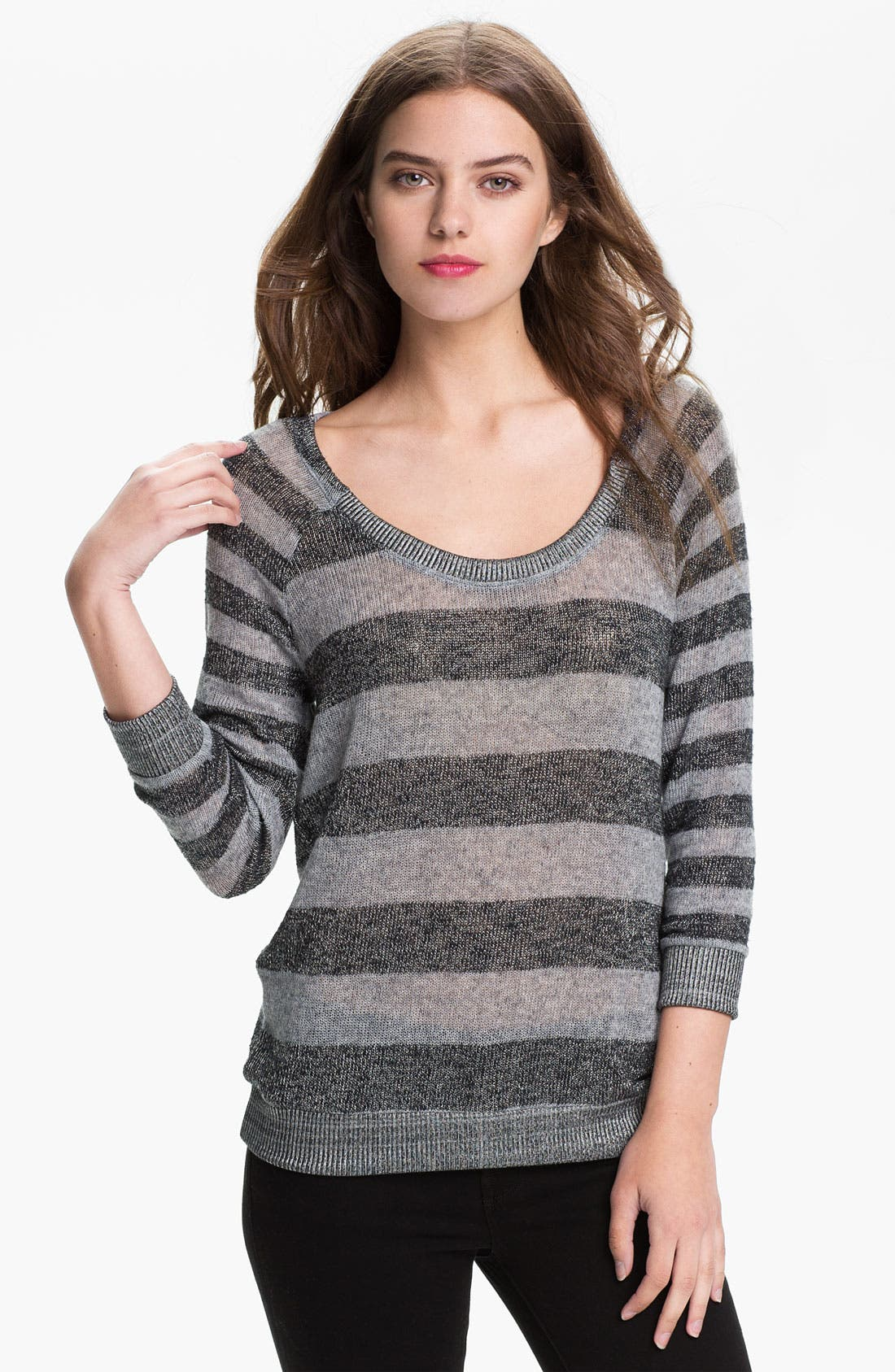 Alternate Image 1 Selected - Soft Joie 'Sky' Sheer Stripe Sweater