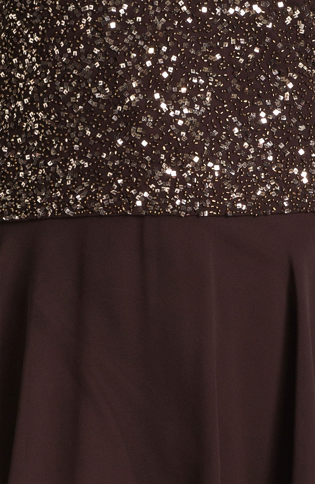 Alternate Image 3  - J Kara Sequin Flutter Sleeve Chiffon Gown (Plus)