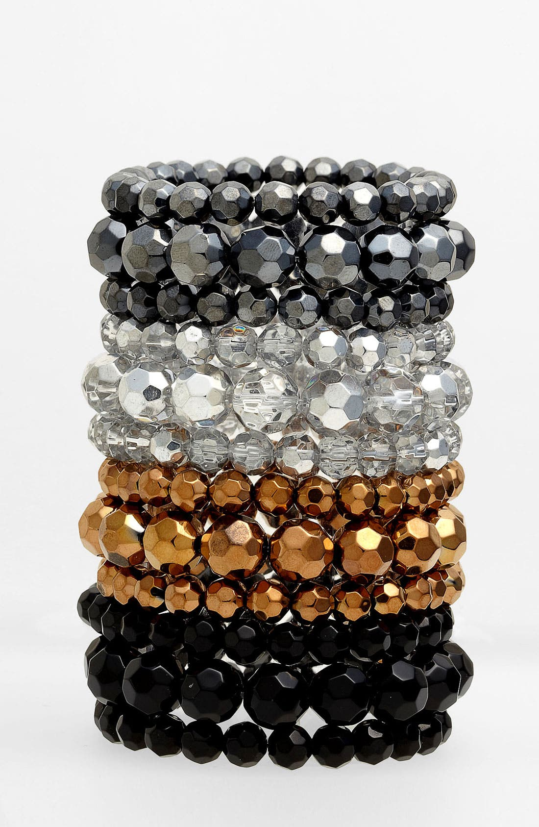 Alternate Image 1 Selected - Nordstrom Bead Stretch Bracelet (Set of 3)