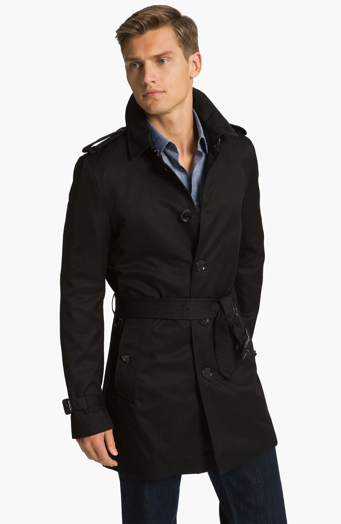 Alternate Image 1 Selected - Burberry London 'Britton' Single Breasted Trench Coat