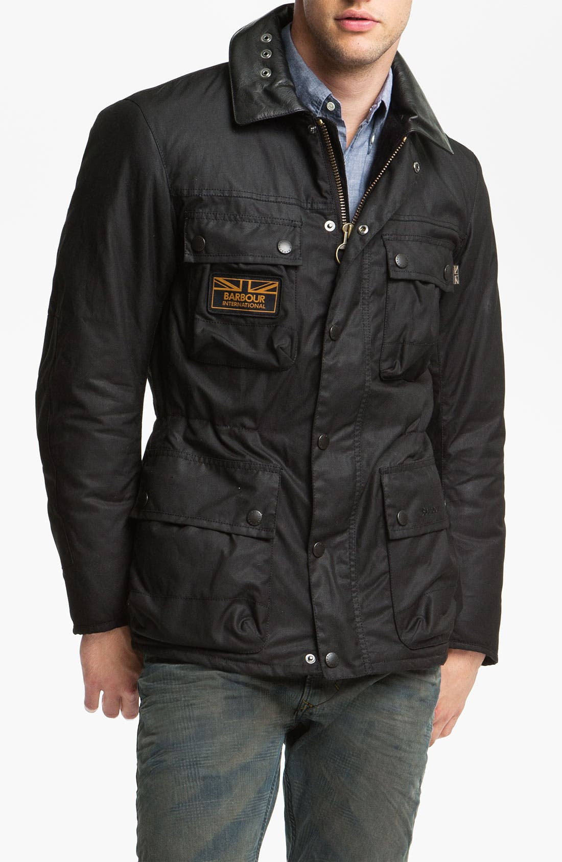 Alternate Image 1 Selected - Barbour 'Surtees' Wax Cotton Jacket