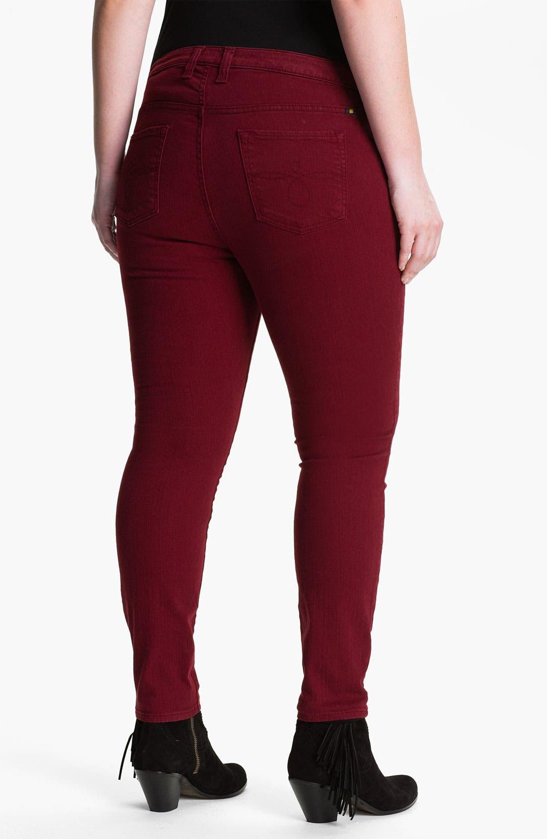 Alternate Image 2  - Lucky Brand 'Ginger' Skinny Jeans (Plus)