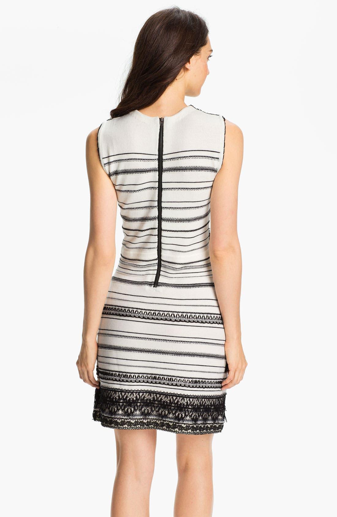 Alternate Image 2  - Nanette Lepore 'Peace & Soul' Merino Wool Fit & Flare Dress