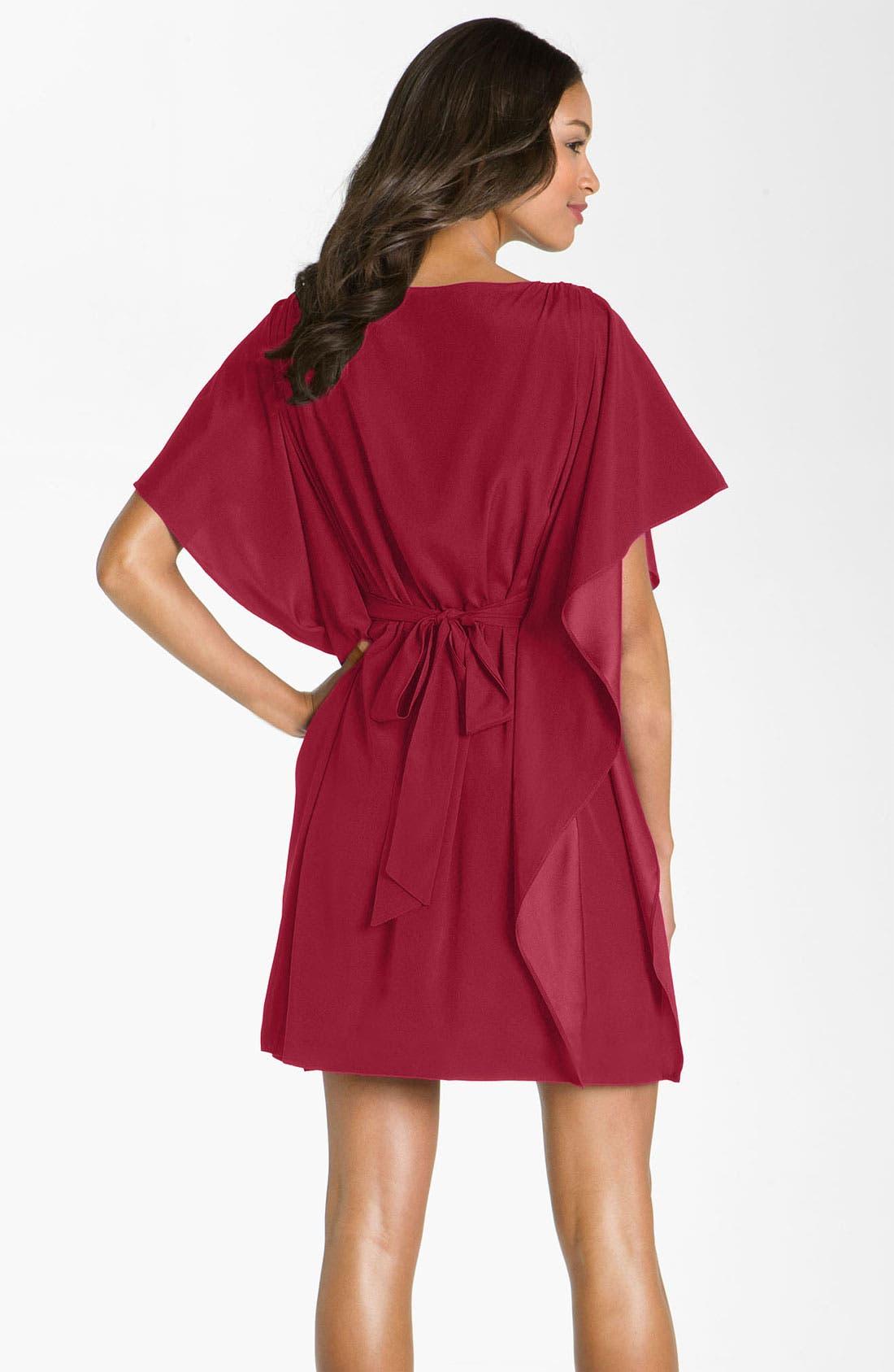 Alternate Image 2  - Suzi Chin for Maggy Boutique Tie Waist Silk Dress