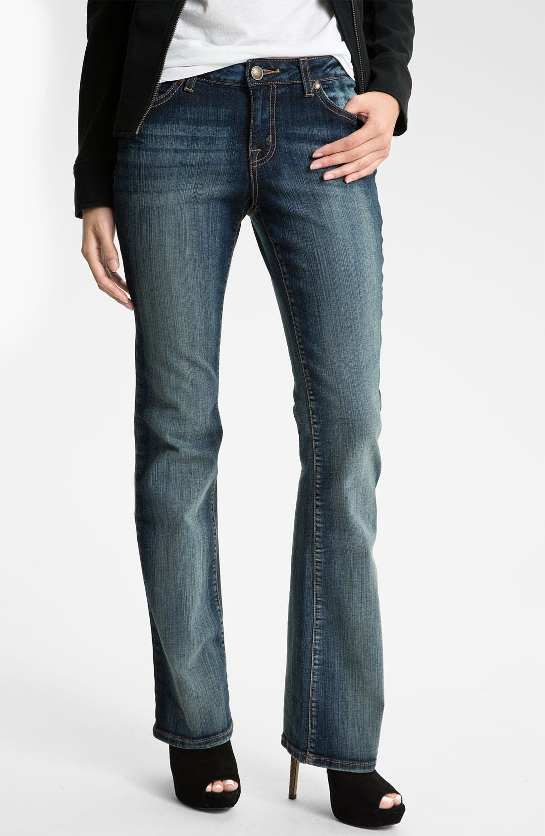 Main Image - Jessica Simpson 'Rockin' Curvy Bootcut Jeans (Blitzen) (Online Only)
