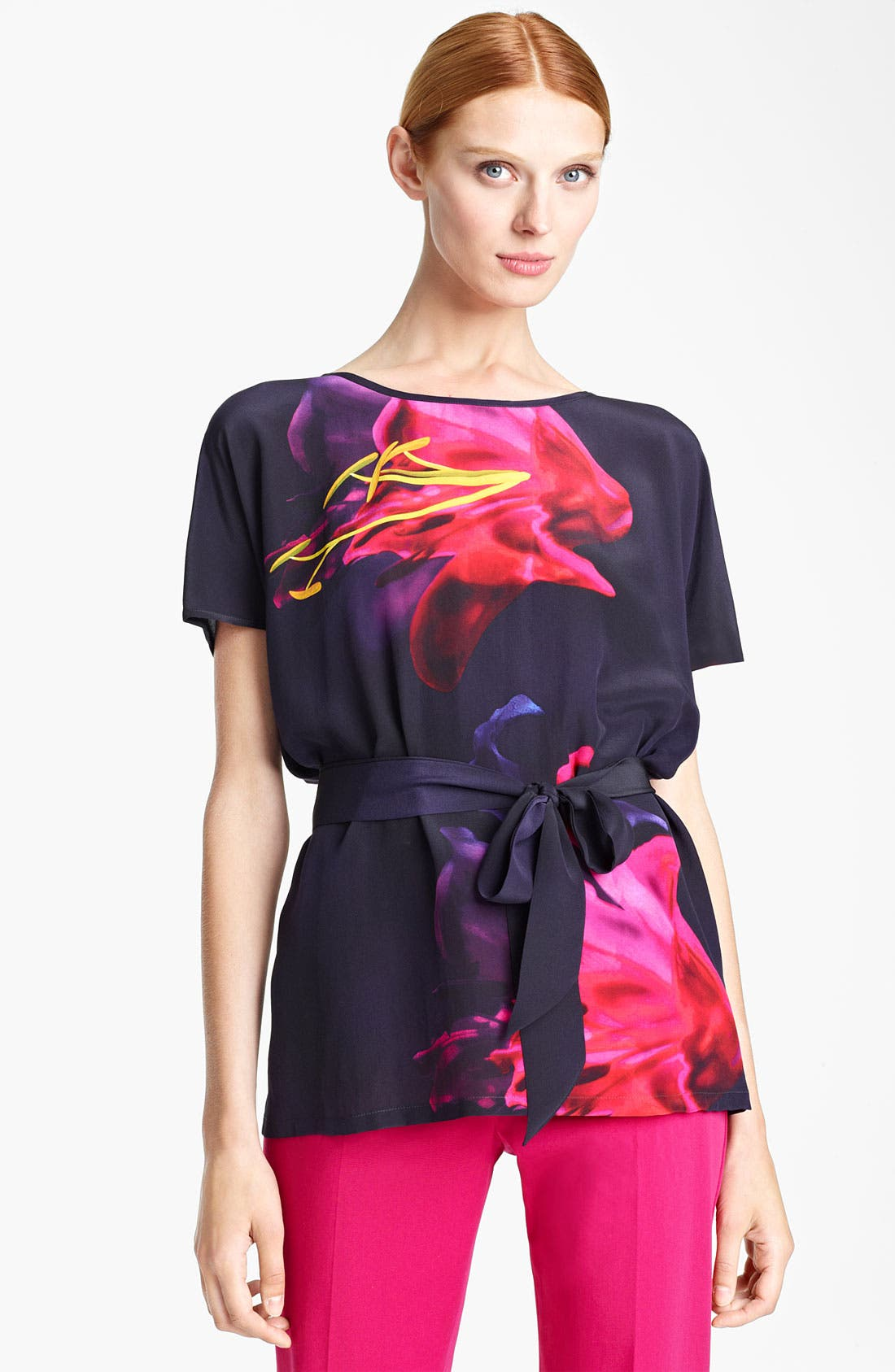 Main Image - Max Mara 'Panteon' Belted Print Top