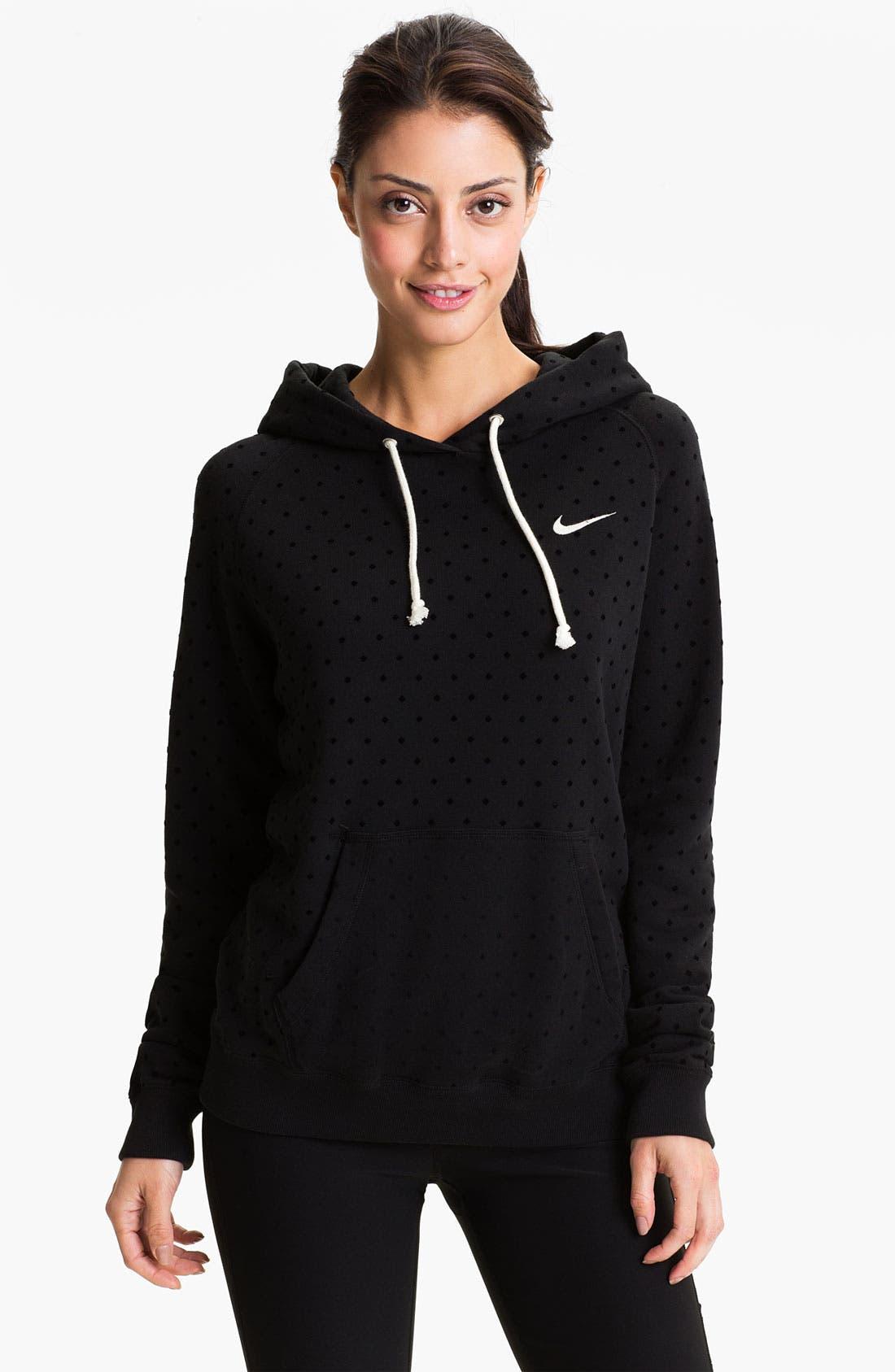 Alternate Image 1 Selected - Nike 'Rally' Dot Print Hoodie