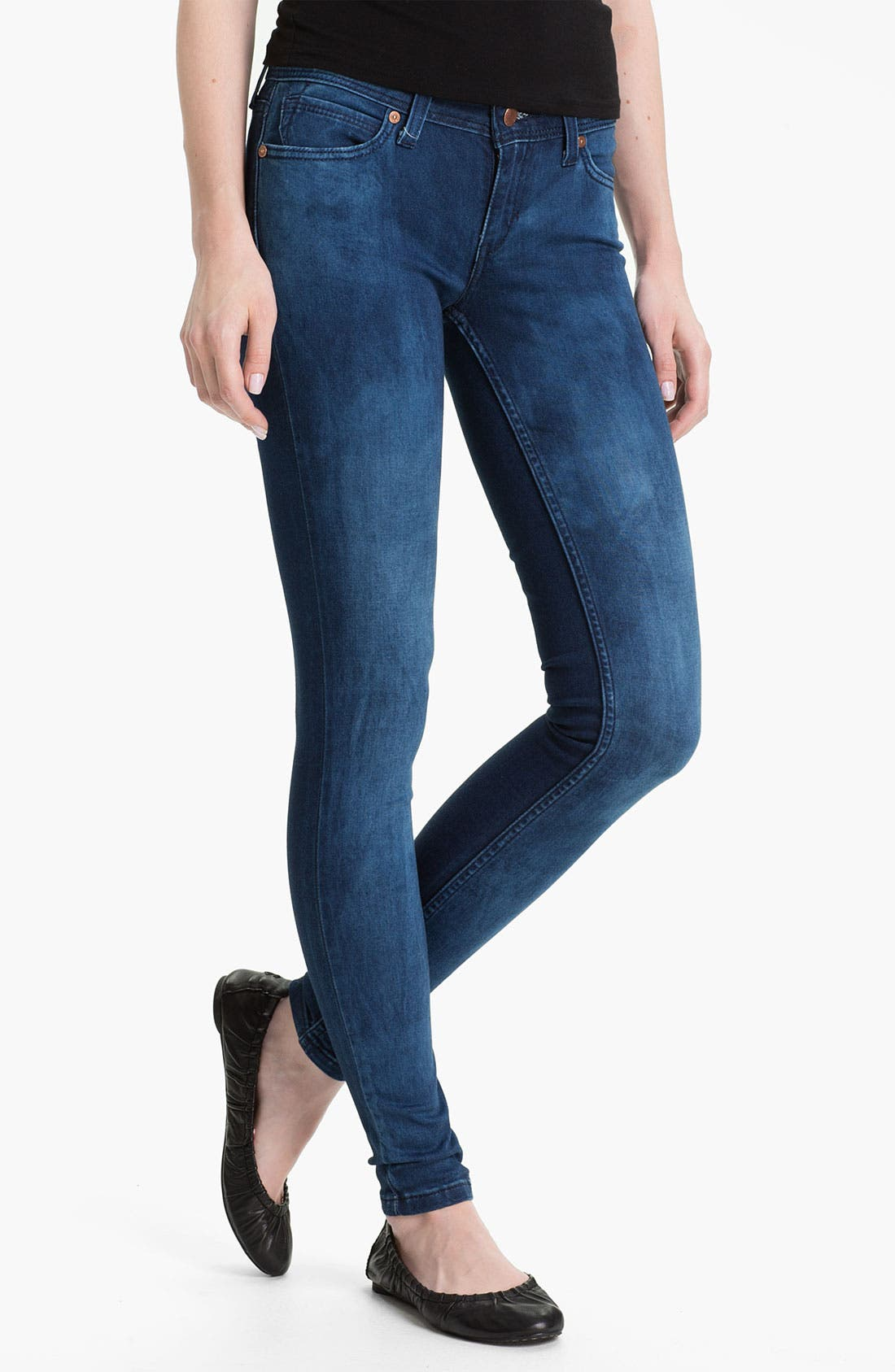 Alternate Image 2  - Levi's® Denim Leggings (Blue Lagoon Sateen)