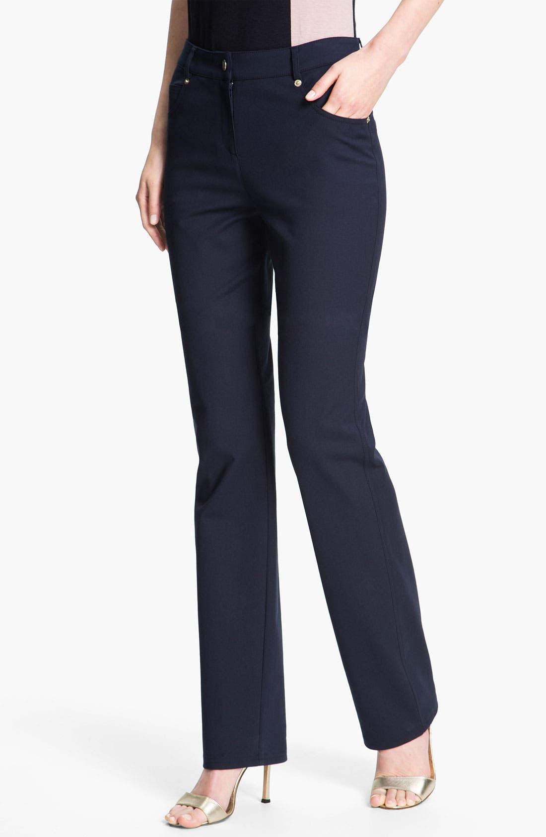 Alternate Image 1 Selected - St. John Yellow Label 'Marie' Five Pocket Straight Leg Pants