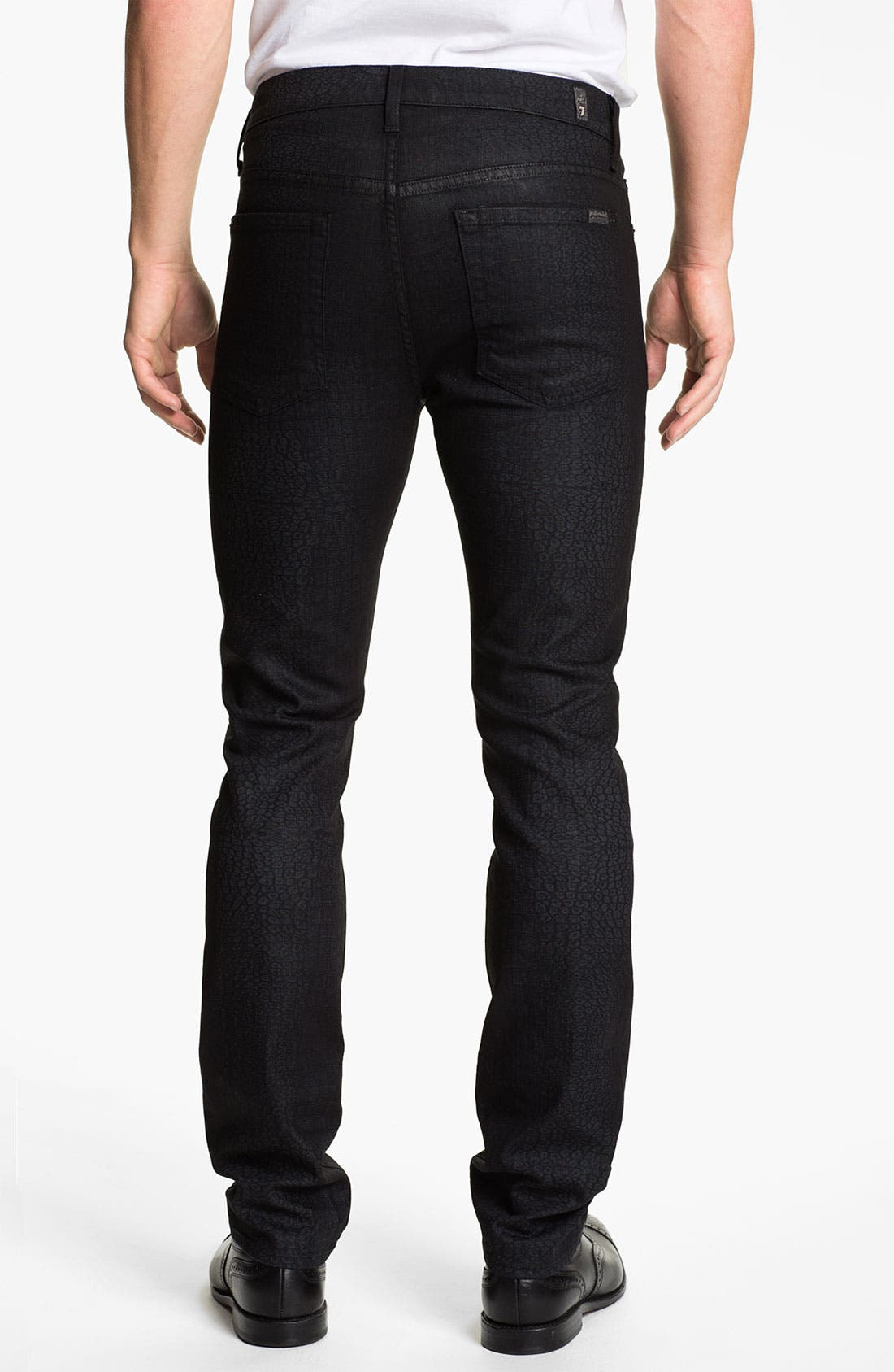 Alternate Image 1 Selected - 7 For All Mankind® 'Rhigby' Slim Straight Leg Jeans (Dark Indigo)