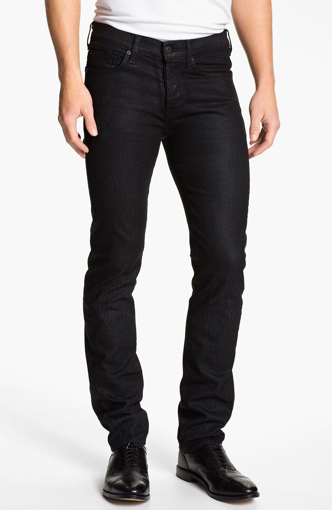 Alternate Image 2  - 7 For All Mankind® 'Rhigby' Slim Straight Leg Jeans (Dark Indigo)