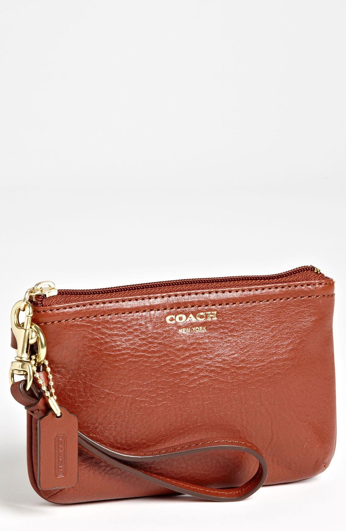 Main Image - COACH 'Small' Leather Wristlet