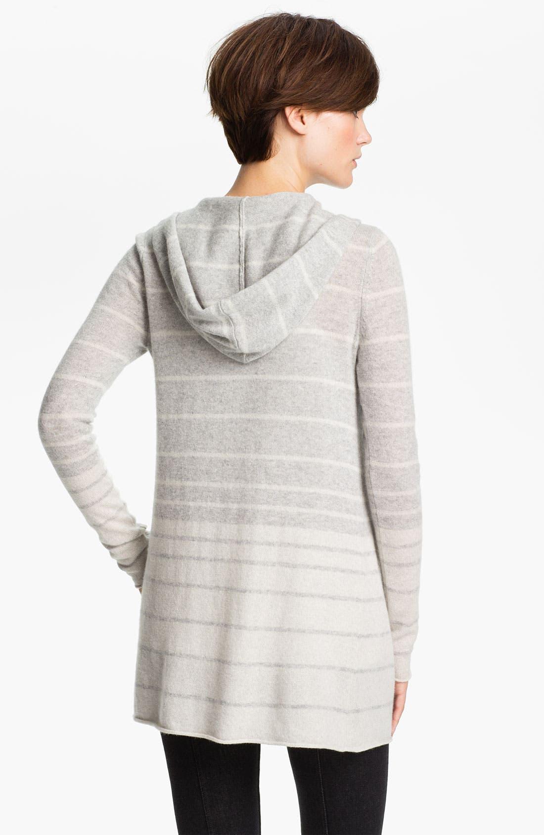 Alternate Image 2  - autumn cashmere Ombré Stripe Hoodie