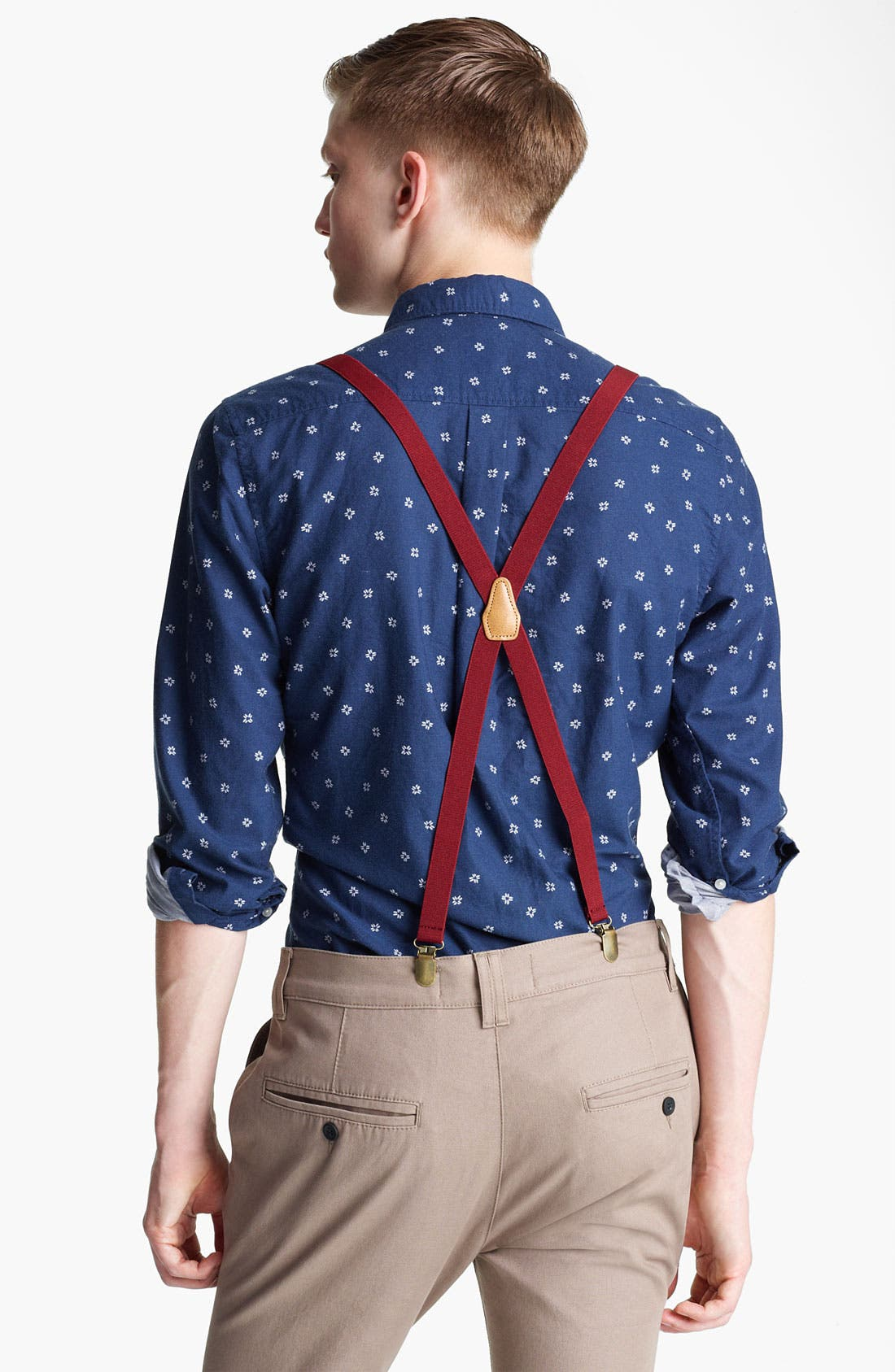 Alternate Image 2  - Topman Floral Motif Woven Shirt