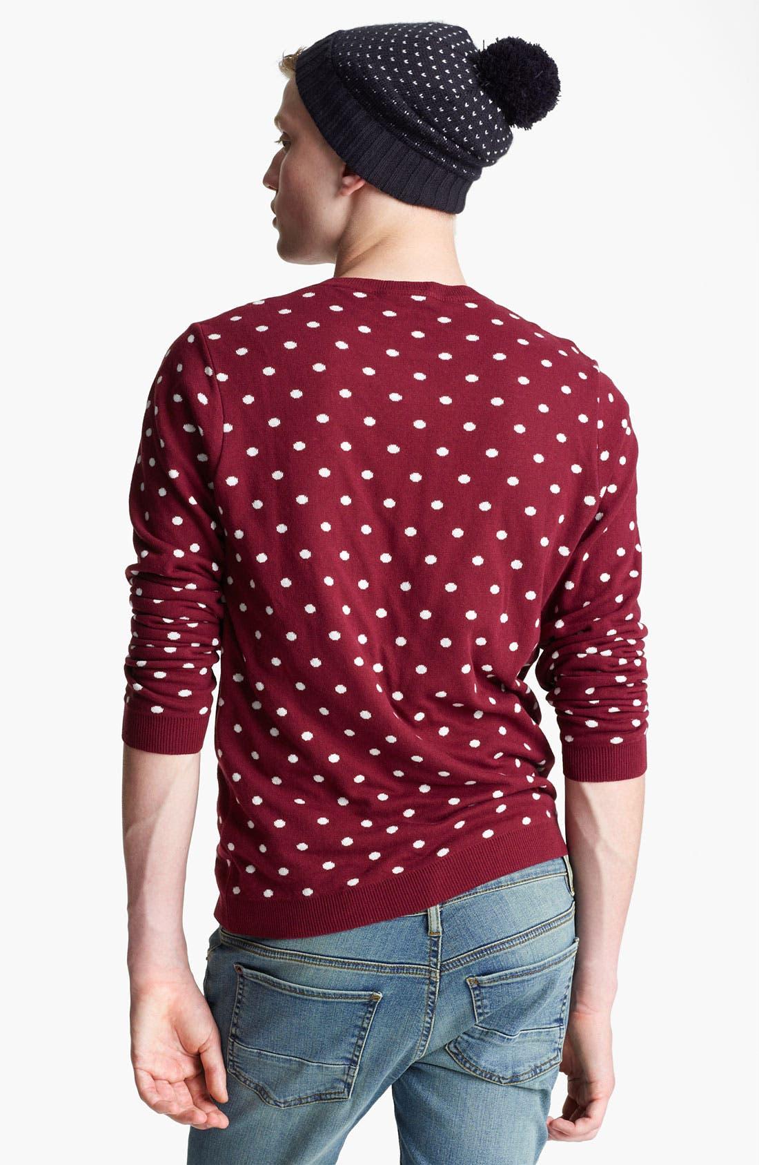 Alternate Image 2  - Topman Polka Dot Crewneck Sweater