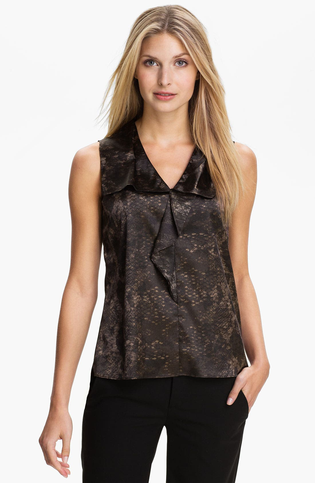 Alternate Image 1 Selected - T Tahari 'Bessy' Sleeveless Blouse (Petite)