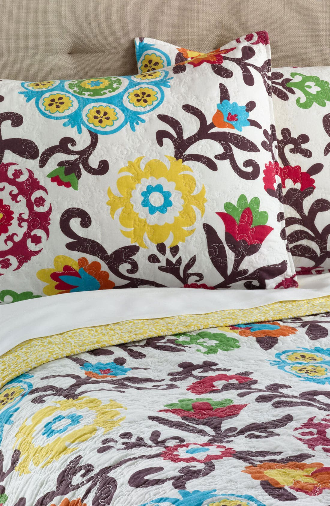 Alternate Image 1 Selected - Levtex 'Corazon' Quilted Pillow Sham