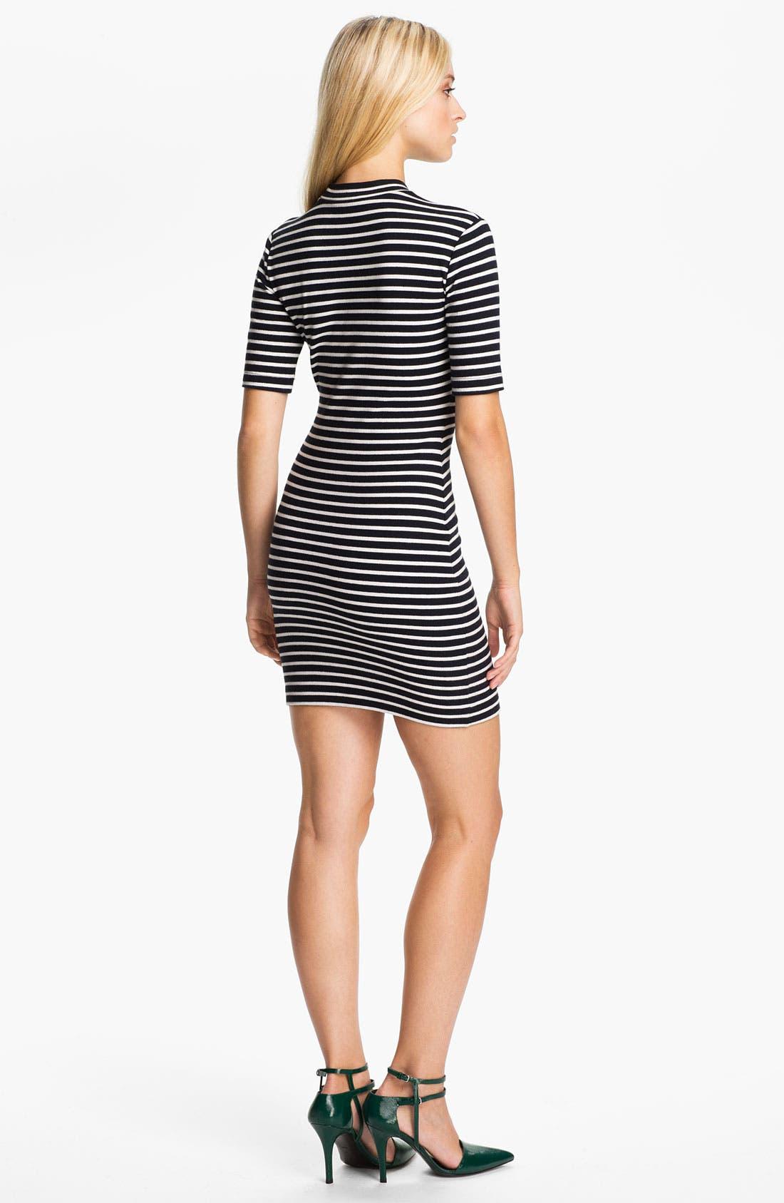 Alternate Image 2  - T by Alexander Wang Stripe Stretch Knit Dress
