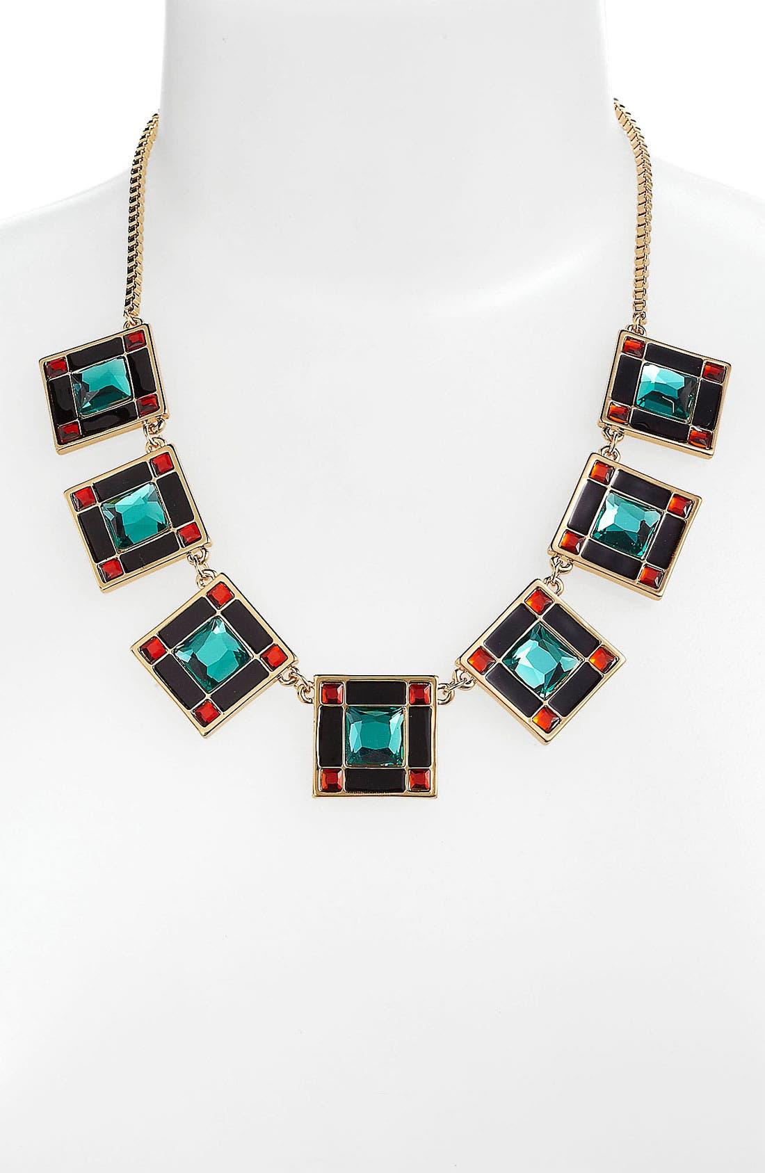 Alternate Image 1 Selected - kate spade new york 'lewitt squares' collar necklace
