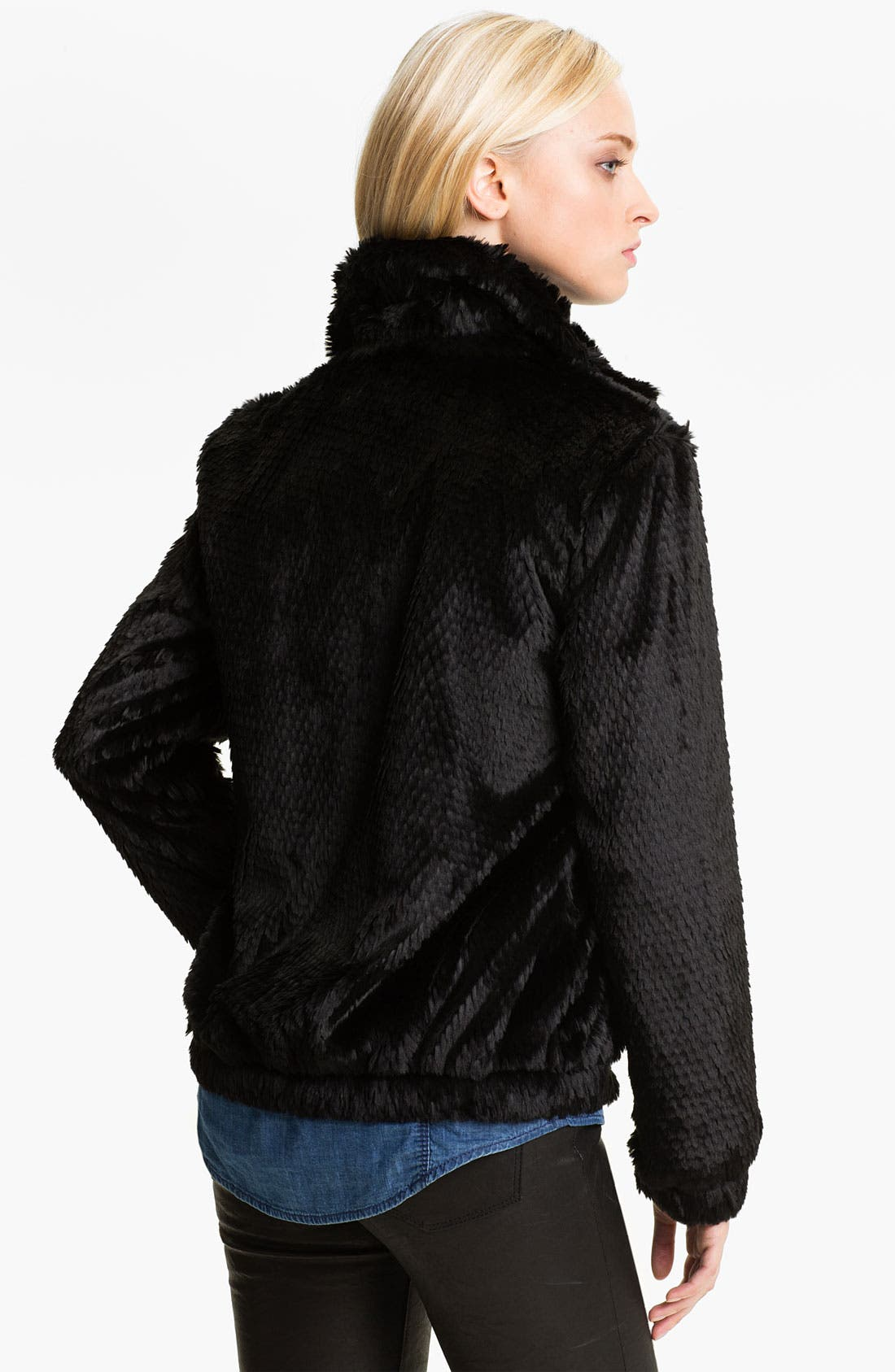 Alternate Image 2  - Ellen Tracy Faux Fur Bomber Jacket