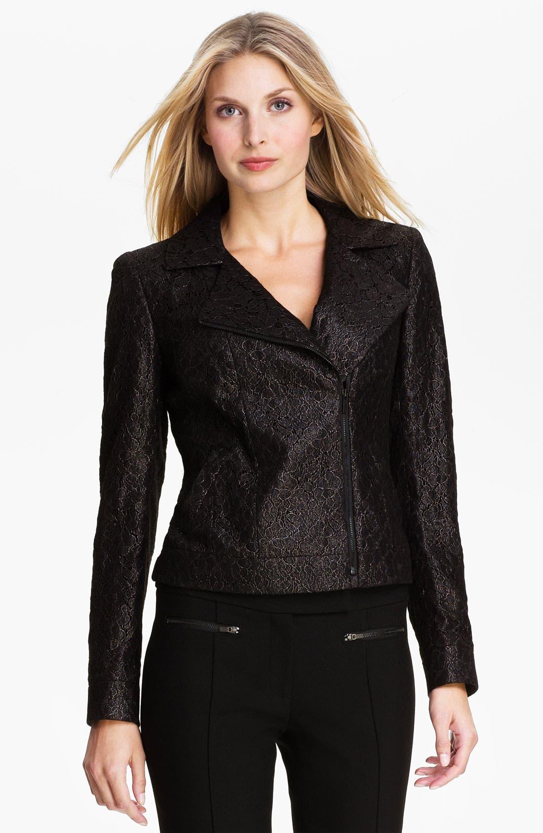 Alternate Image 1 Selected - Classiques Entier® Lace Moto Jacket