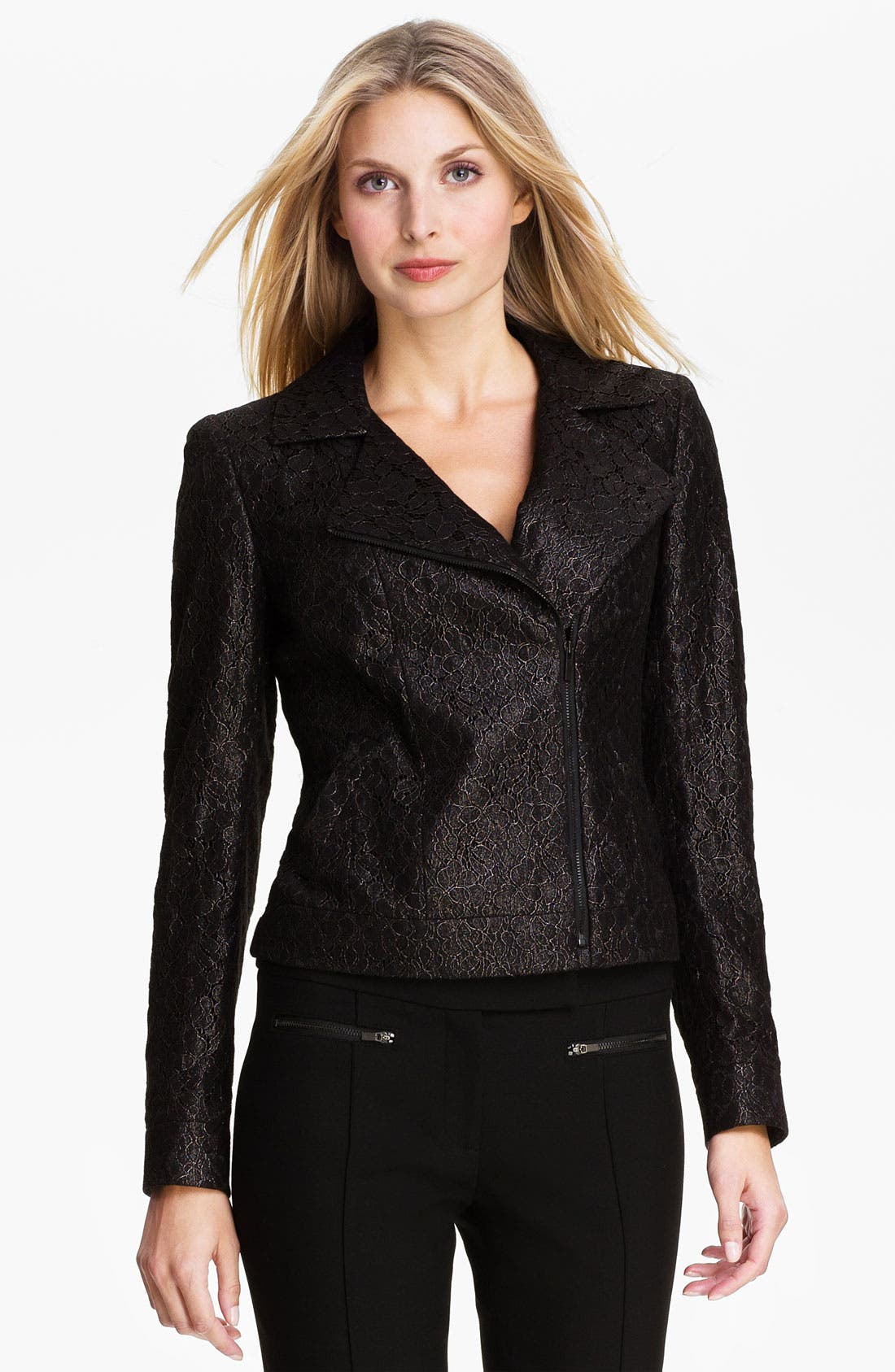 Main Image - Classiques Entier® Lace Moto Jacket