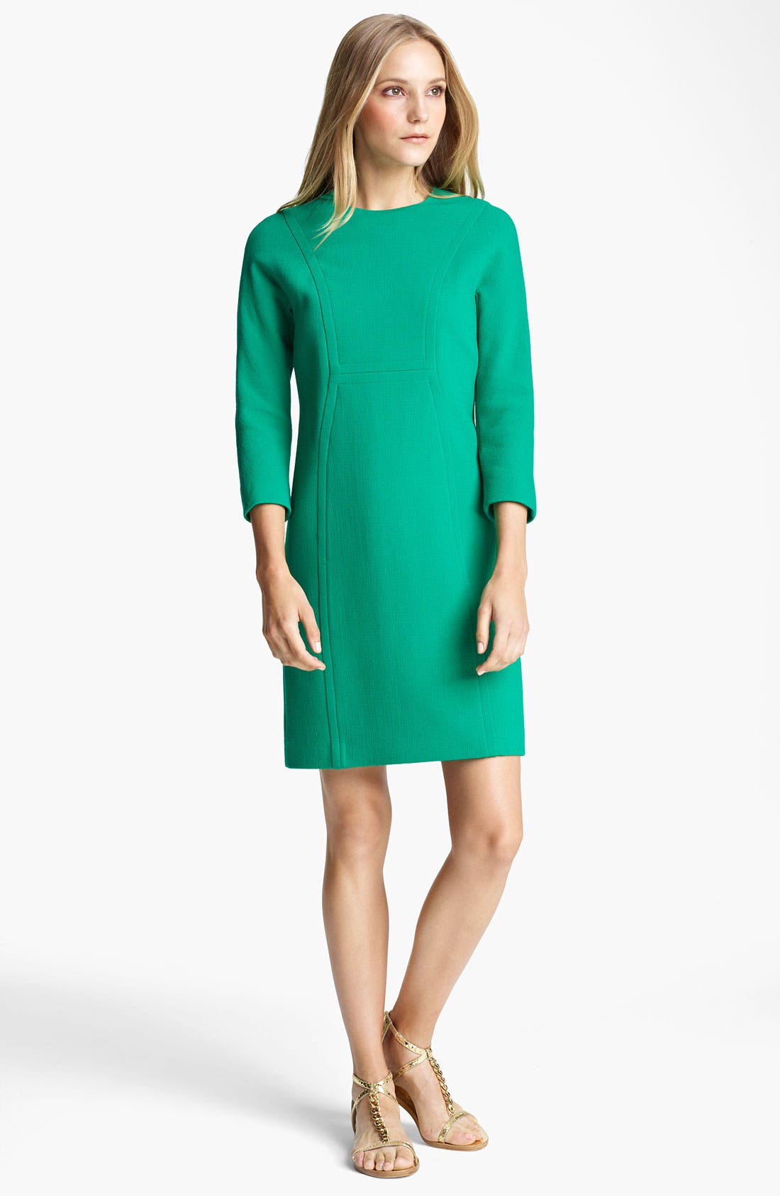 Alternate Image 1 Selected - Michael Kors Bouclé Crepe Shift Dress